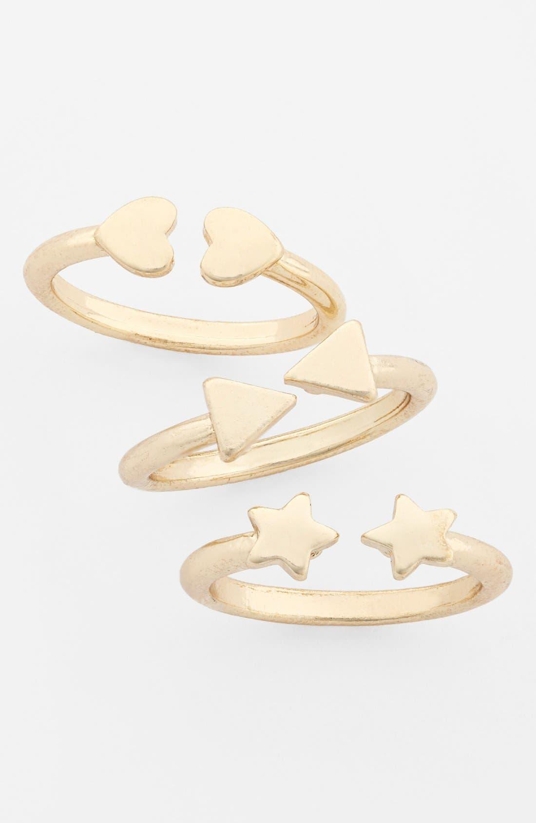 Main Image - Devan 'Free Spirit' Rings (Set of 3) (Juniors)