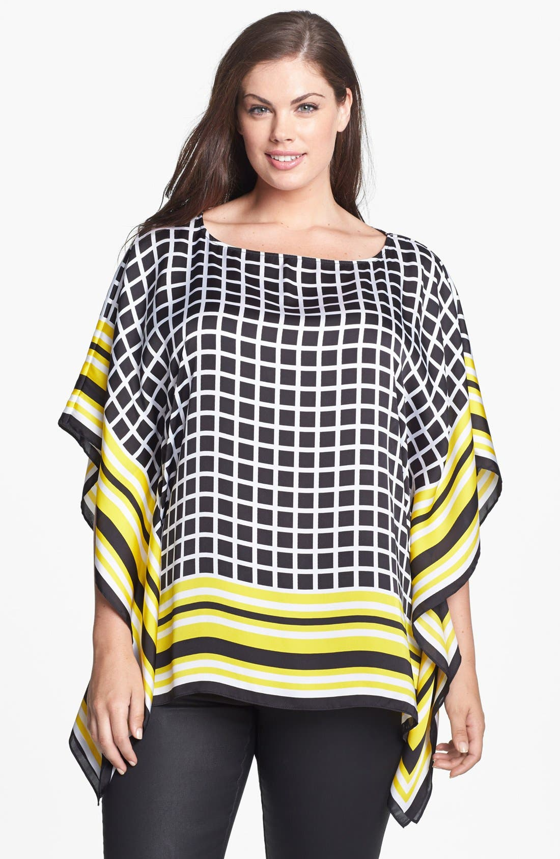 Alternate Image 1 Selected - MICHAEL Michael Kors Print Flutter Top (Plus Size)