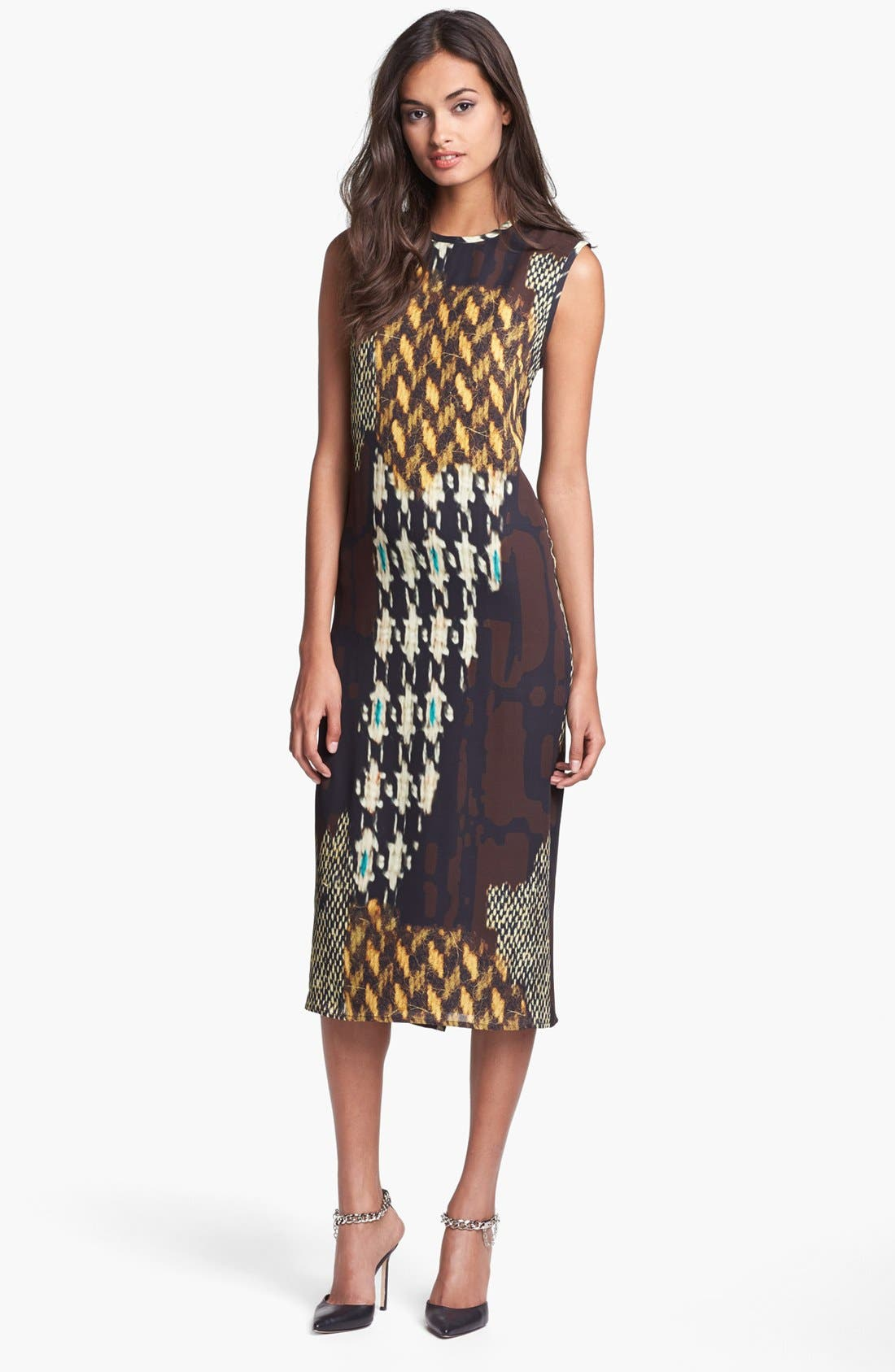 Alternate Image 1 Selected - Trina Turk 'Lottie' Print Midi Dress