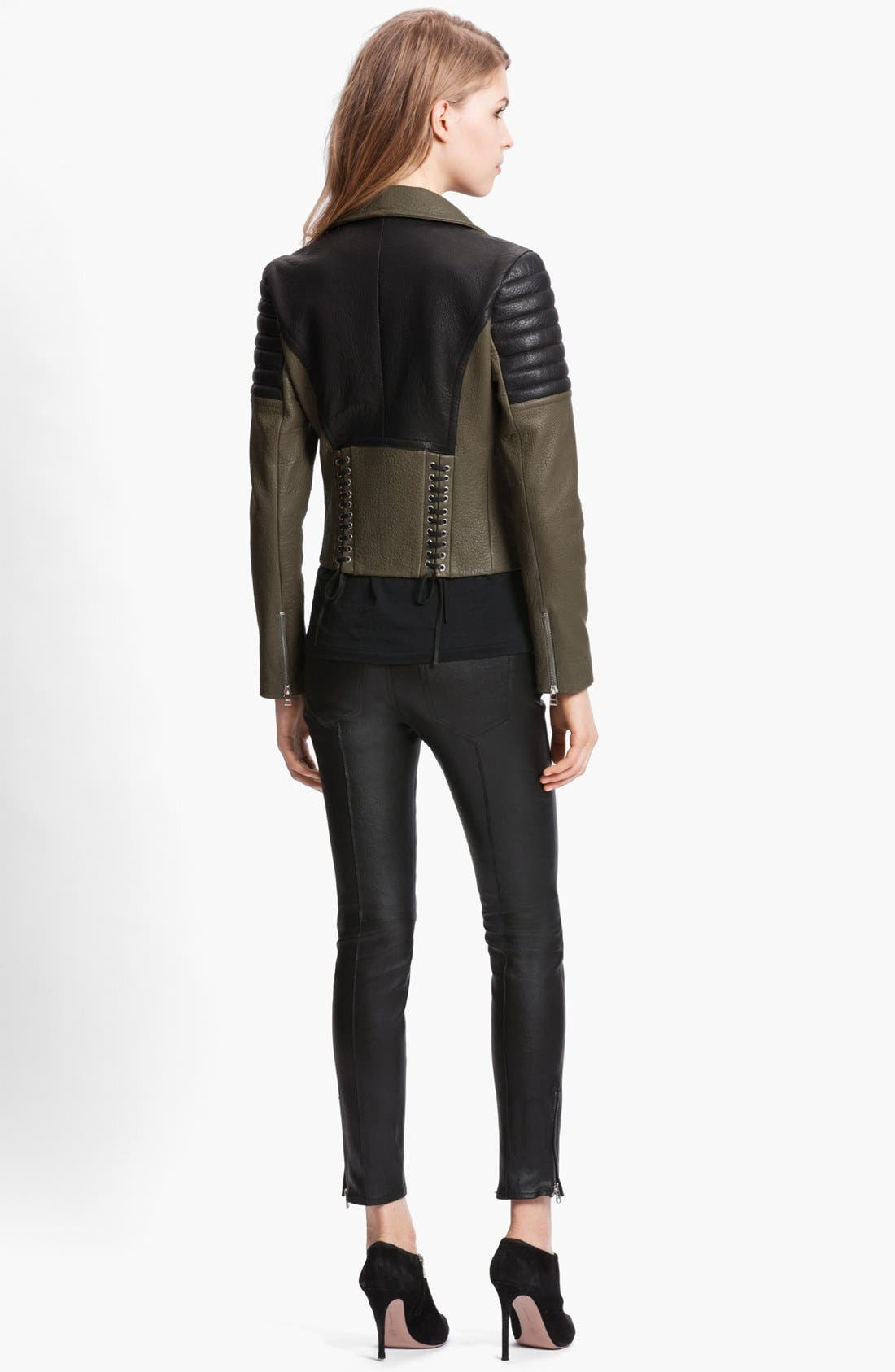 Alternate Image 2  - Faith Connexion Mixed Leather Jacket