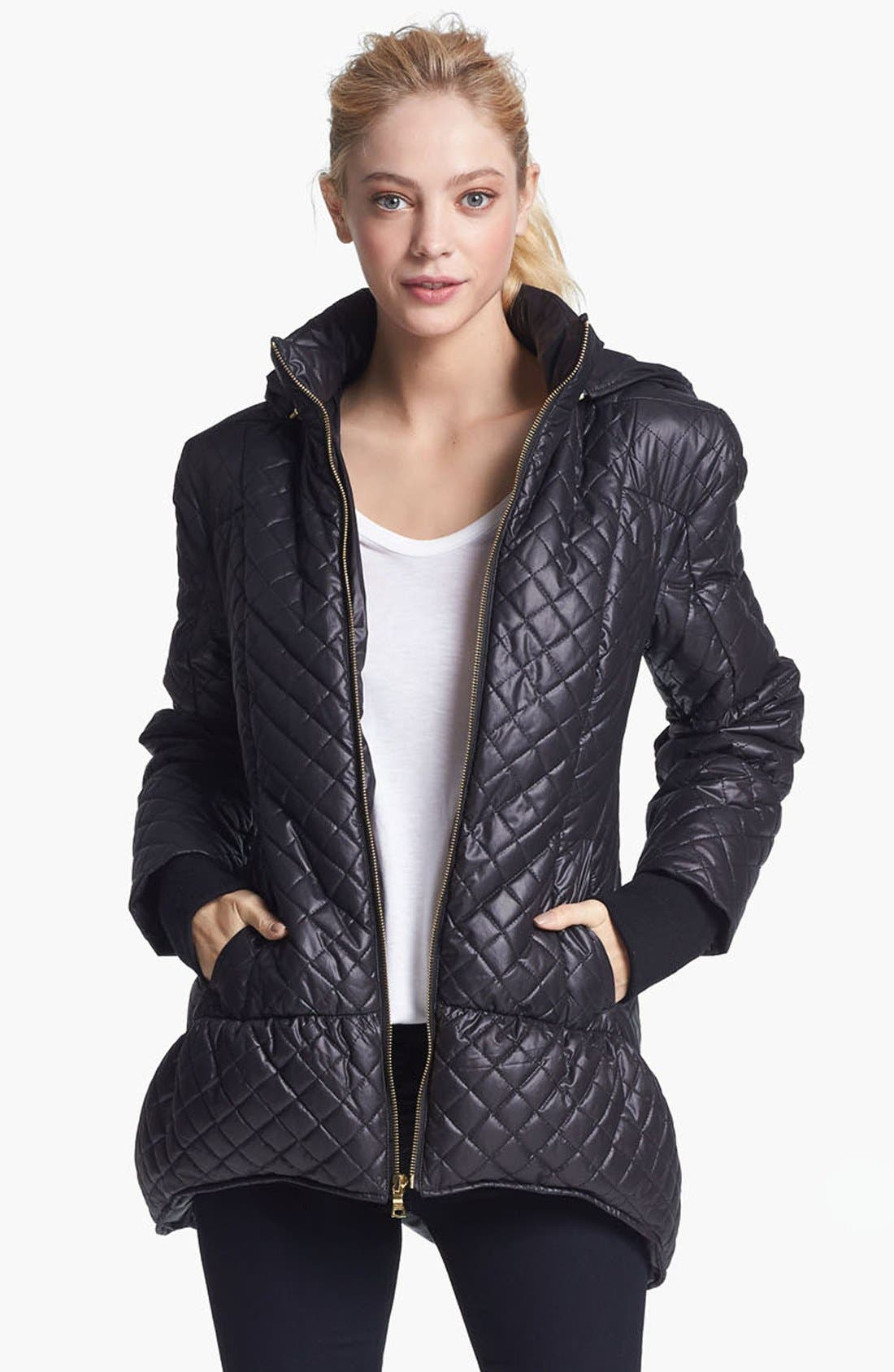 Alternate Image 1 Selected - Alice + Olivia Hooded Puffer Jacket