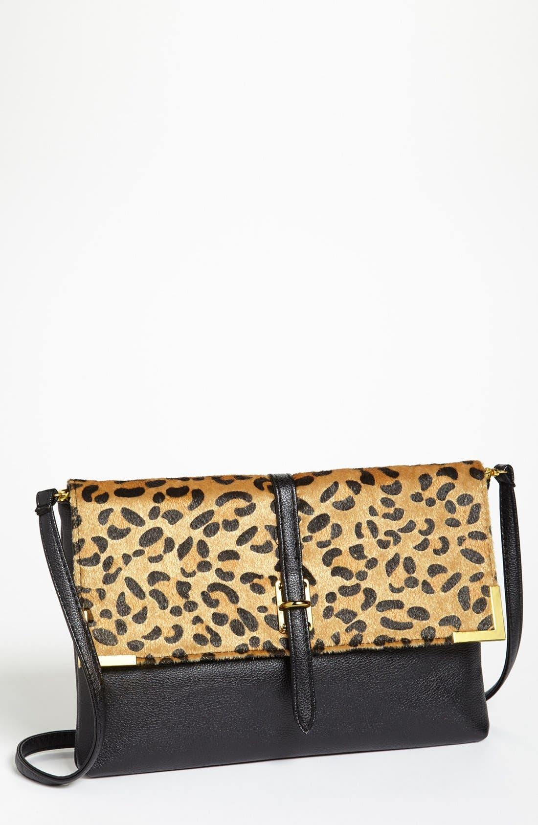 Alternate Image 1 Selected - Natasha Couture Leopard Print Shoulder Bag