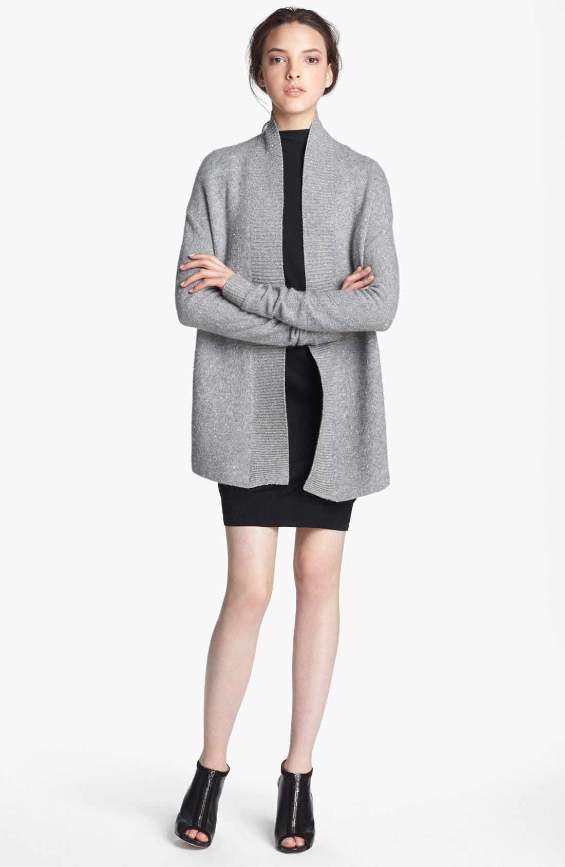 Alternate Image 1 Selected - Alexander Wang Donegal Tweed Knit Cardigan