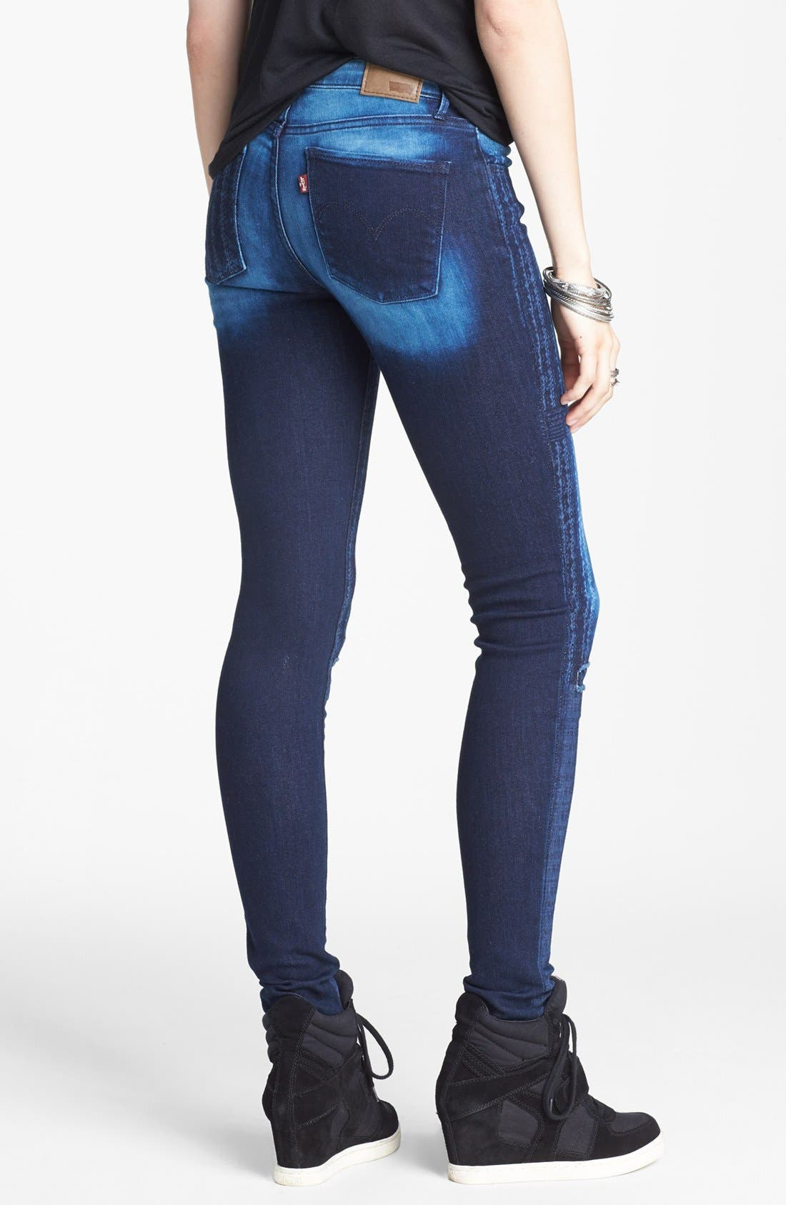 Alternate Image 2  - Levi's® 'The Legging East' Overdyed Skinny Jeans (Dark)