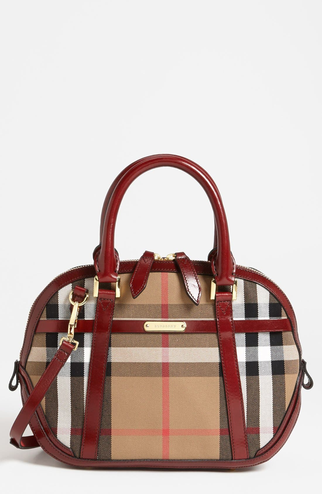 Alternate Image 1 Selected - Burberry 'House Check' Crossbody Satchel, Medium