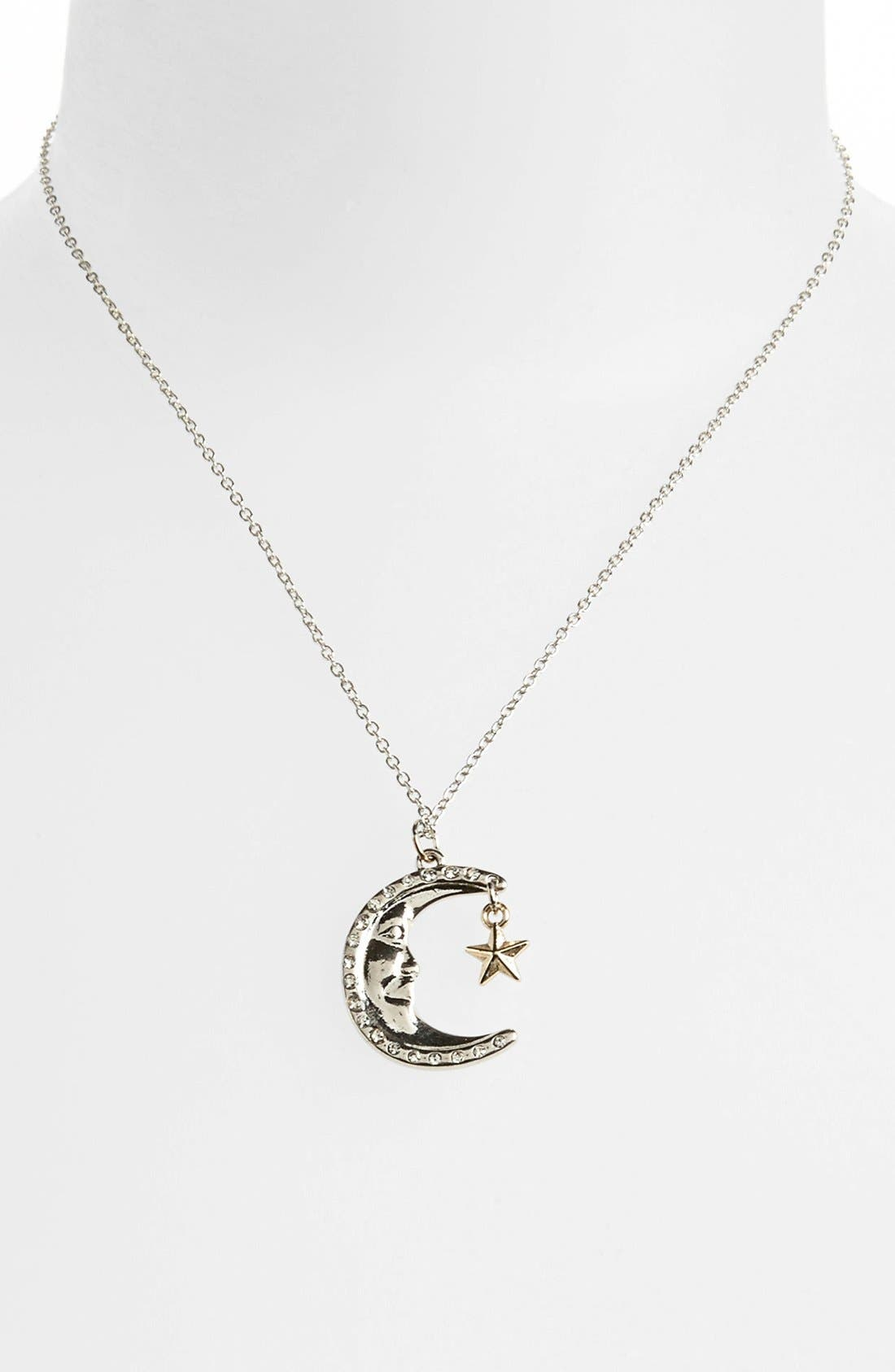 Alternate Image 1 Selected - Topshop 'Moon & Star' Pendant Necklace