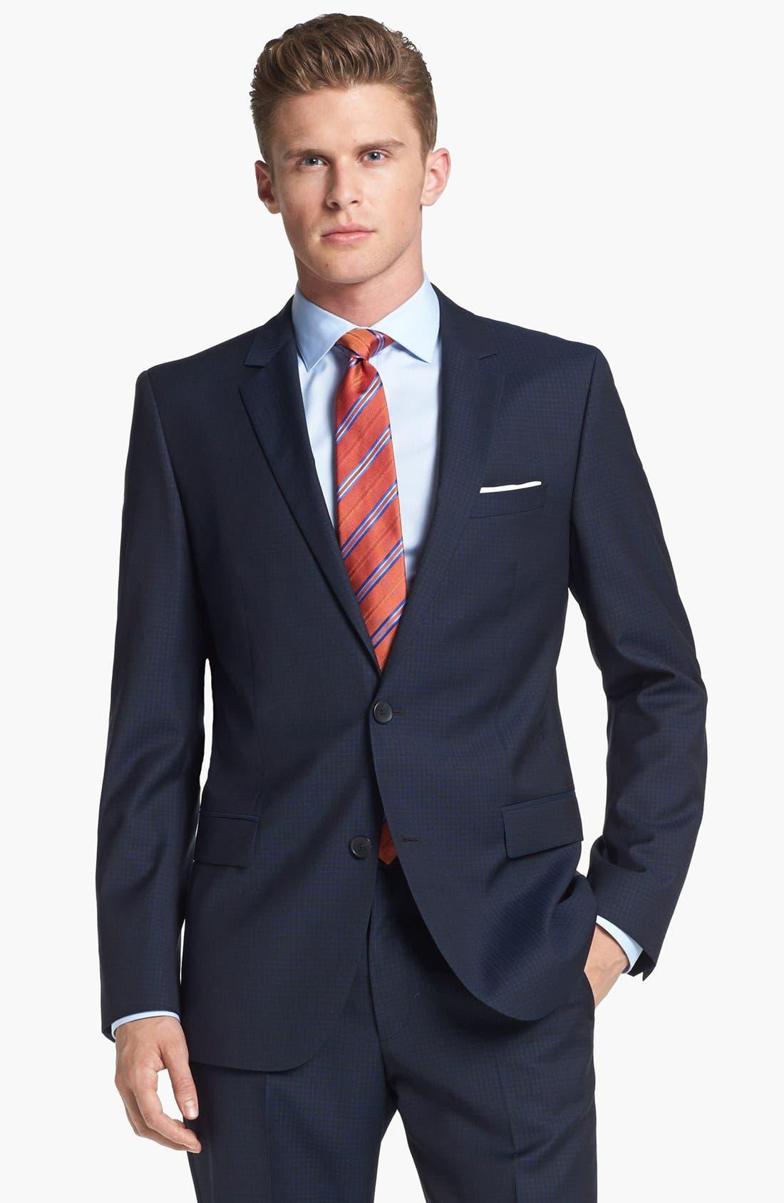 Alternate Image 4  - HUGO 'Astro/Hill' Extra Trim Fit Check Suit