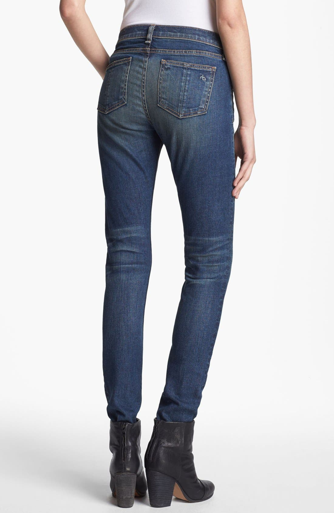 Alternate Image 2  - rag & bone/JEAN Skinny Stretch Jeans (Stratham)