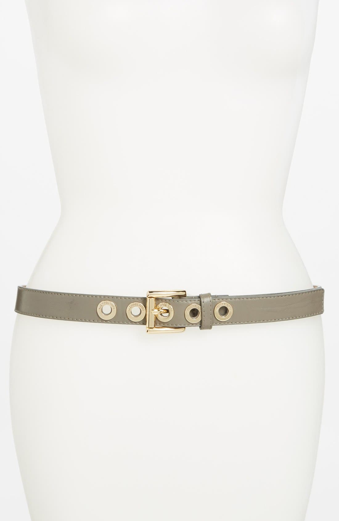 Alternate Image 1 Selected - MICHAEL Michael Kors Leather Belt