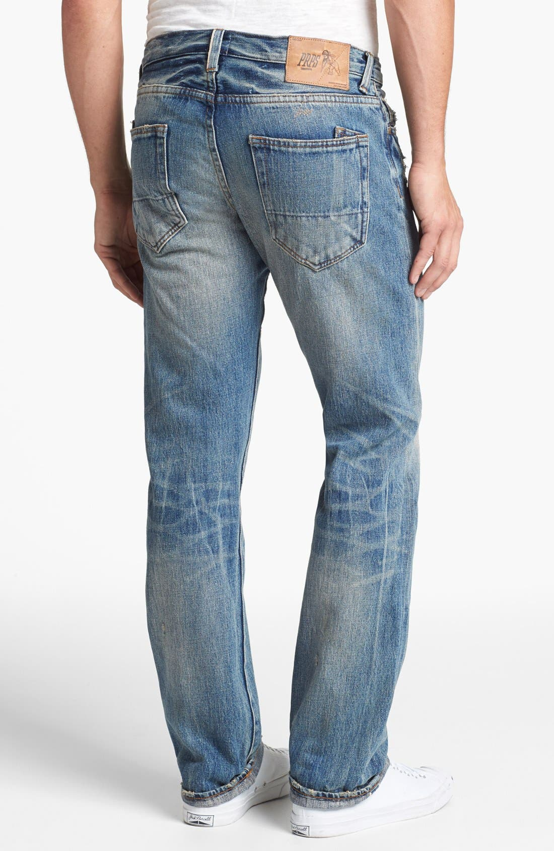 'Barracuda' Straight Leg Selvedge Jeans,                             Alternate thumbnail 2, color,                             5 Year Wash