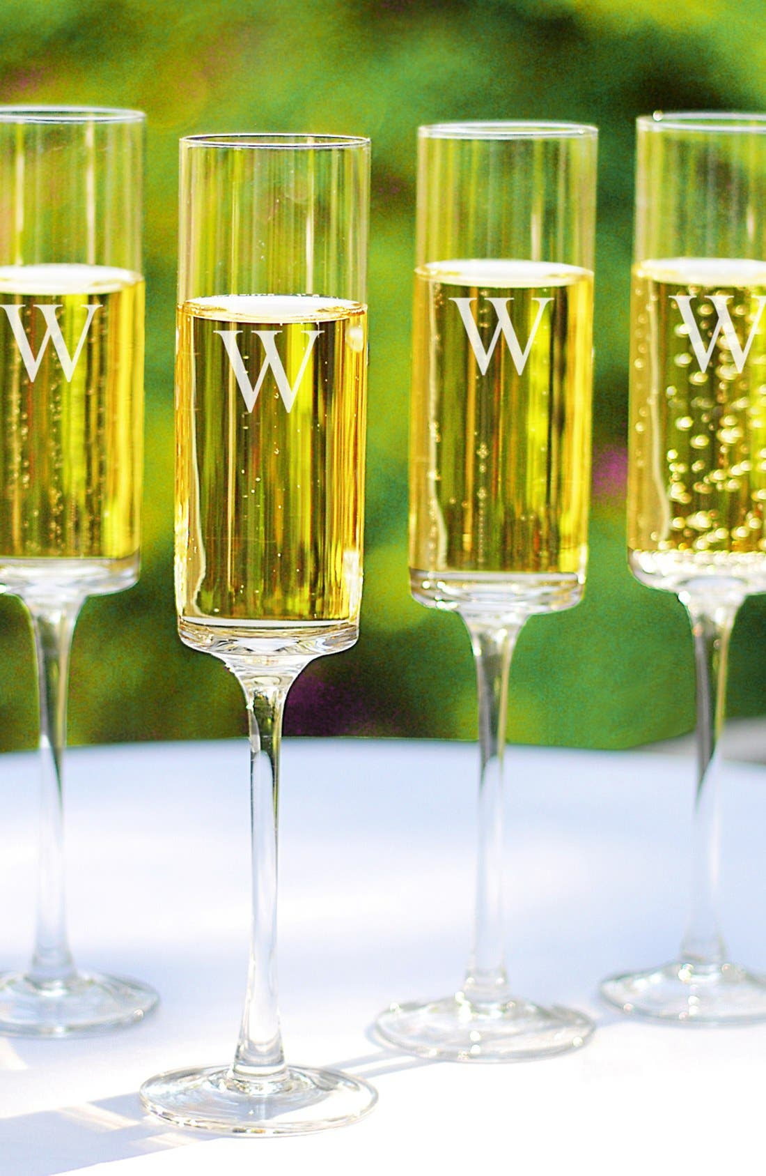Alternate Image 1 Selected - Cathy's Concepts Personalized Contemporary Champagne Flutes (Set of 4)