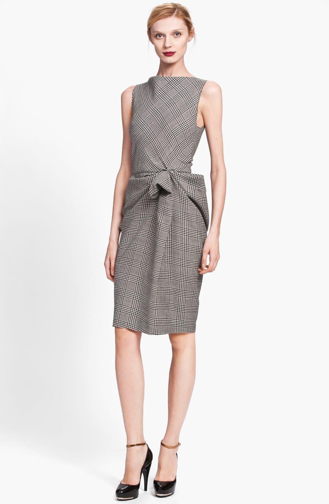 Alternate Image 1 Selected - Lanvin Side Drape Plaid Dress