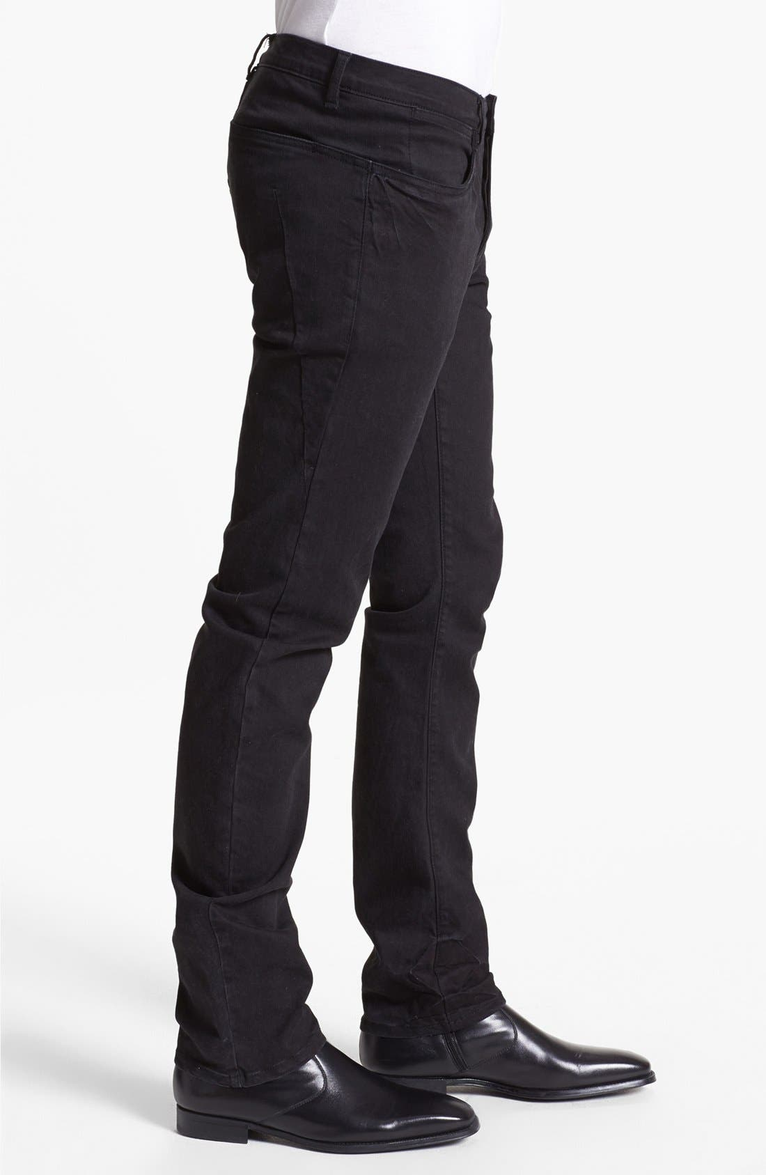 Alternate Image 3  - Kenneth Cole Collection Slim Fit Jeans (Black)