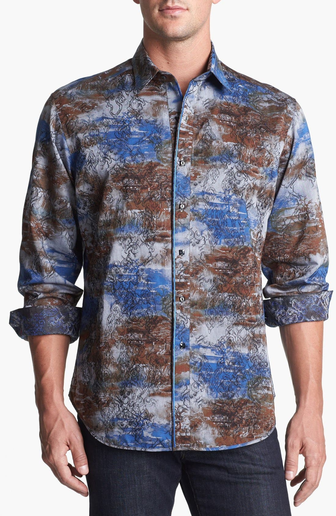 Alternate Image 1 Selected - Robert Graham Reversible 'Spitfire' Regular Fit Sport Shirt (Limited Edition)