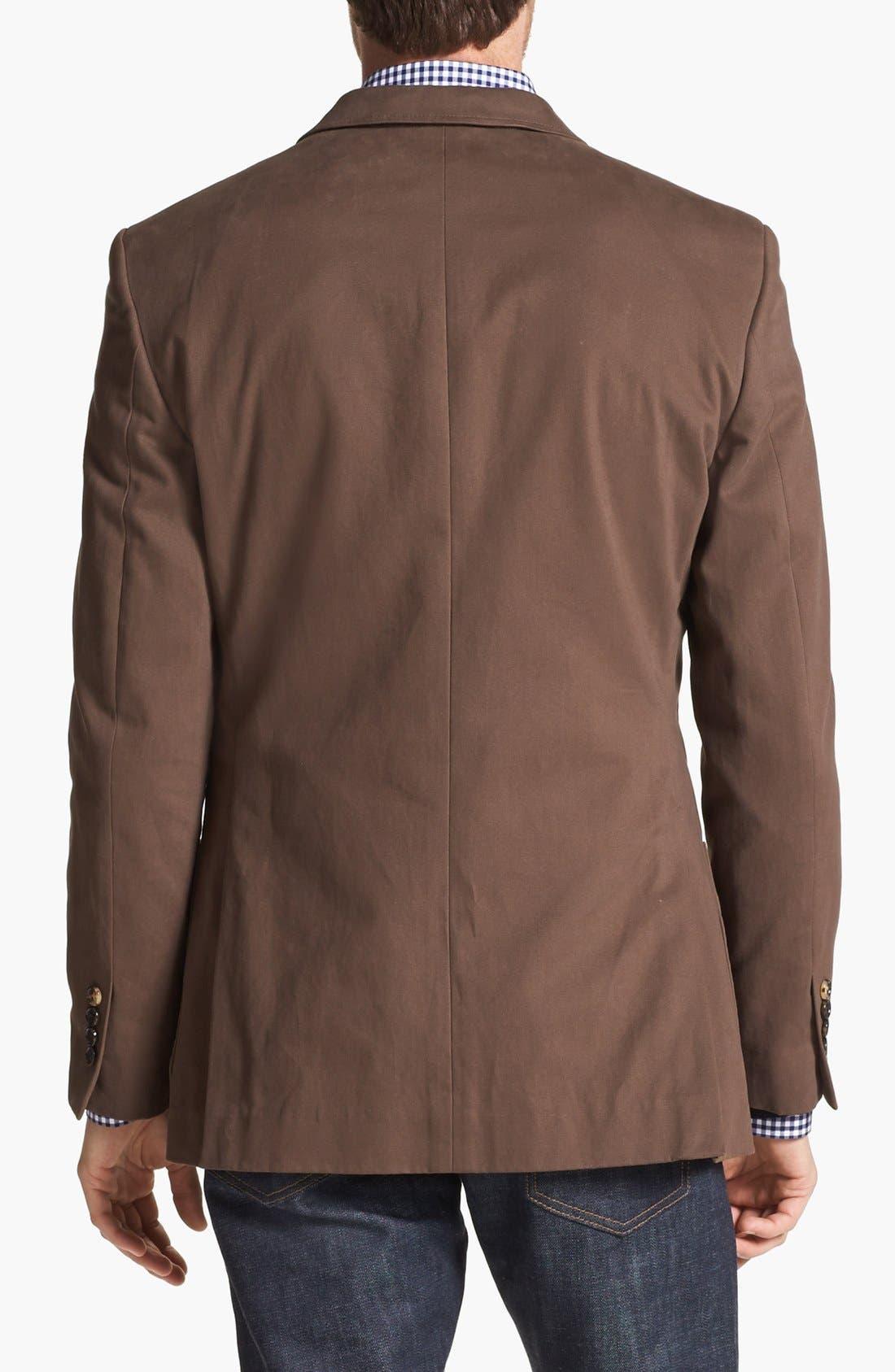 Alternate Image 3  - Wallin & Bros. Extra Trim Fit Cotton Twill Blazer