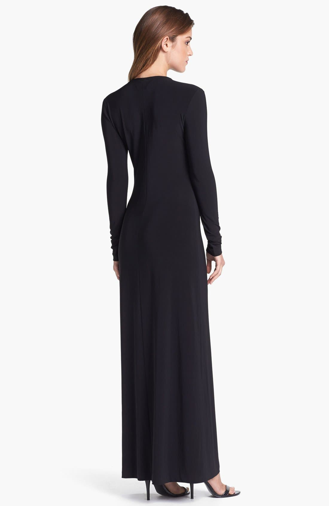 Alternate Image 2  - KAMALIKULTURE Crewneck Maxi Dress