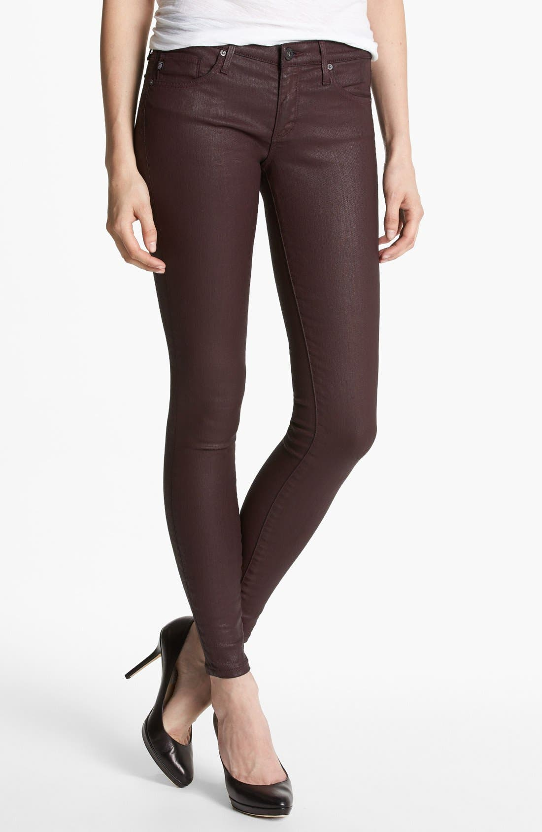 Main Image - AG 'The Absolute Legging' Coated Skinny Jeans (Brave)