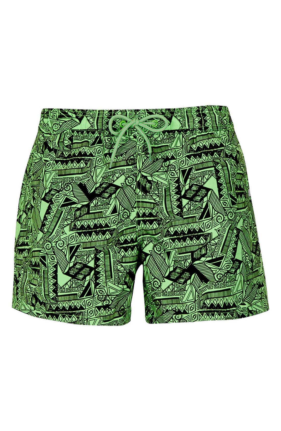 Alternate Image 1 Selected - Topman 'Crocodillio' Swim Trunks
