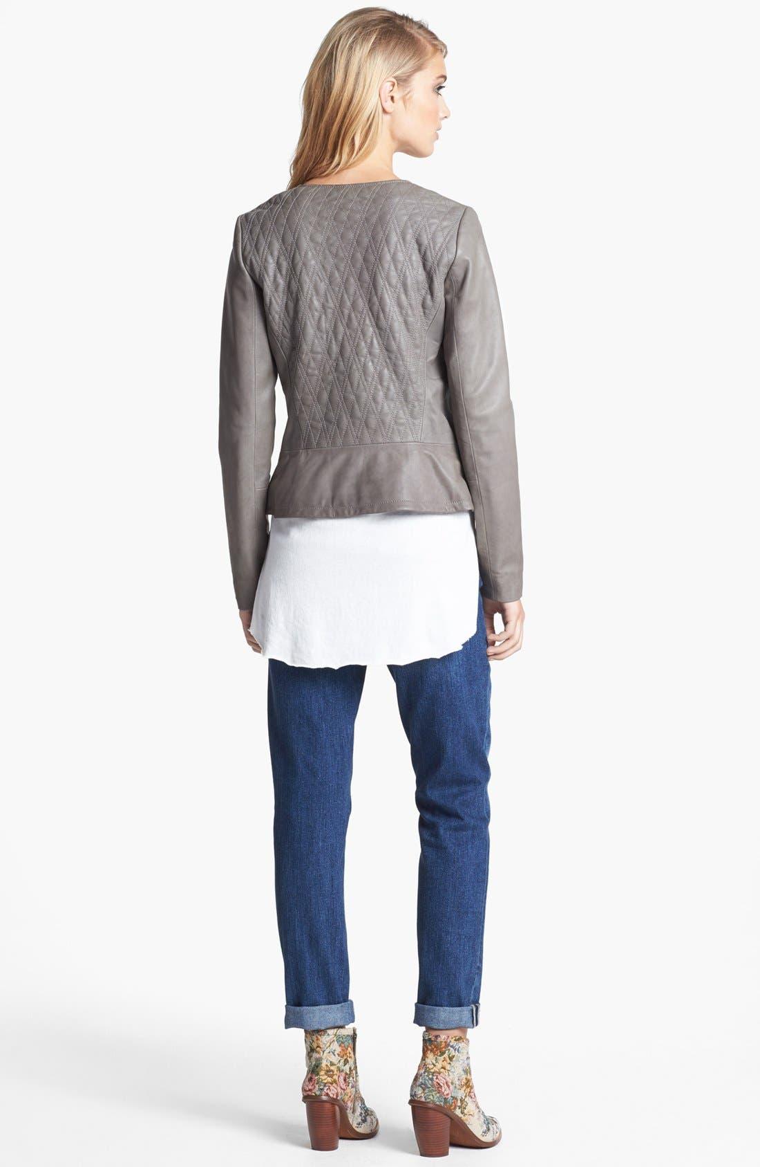 Alternate Image 5  - Hinge® Quilted Leather Jacket