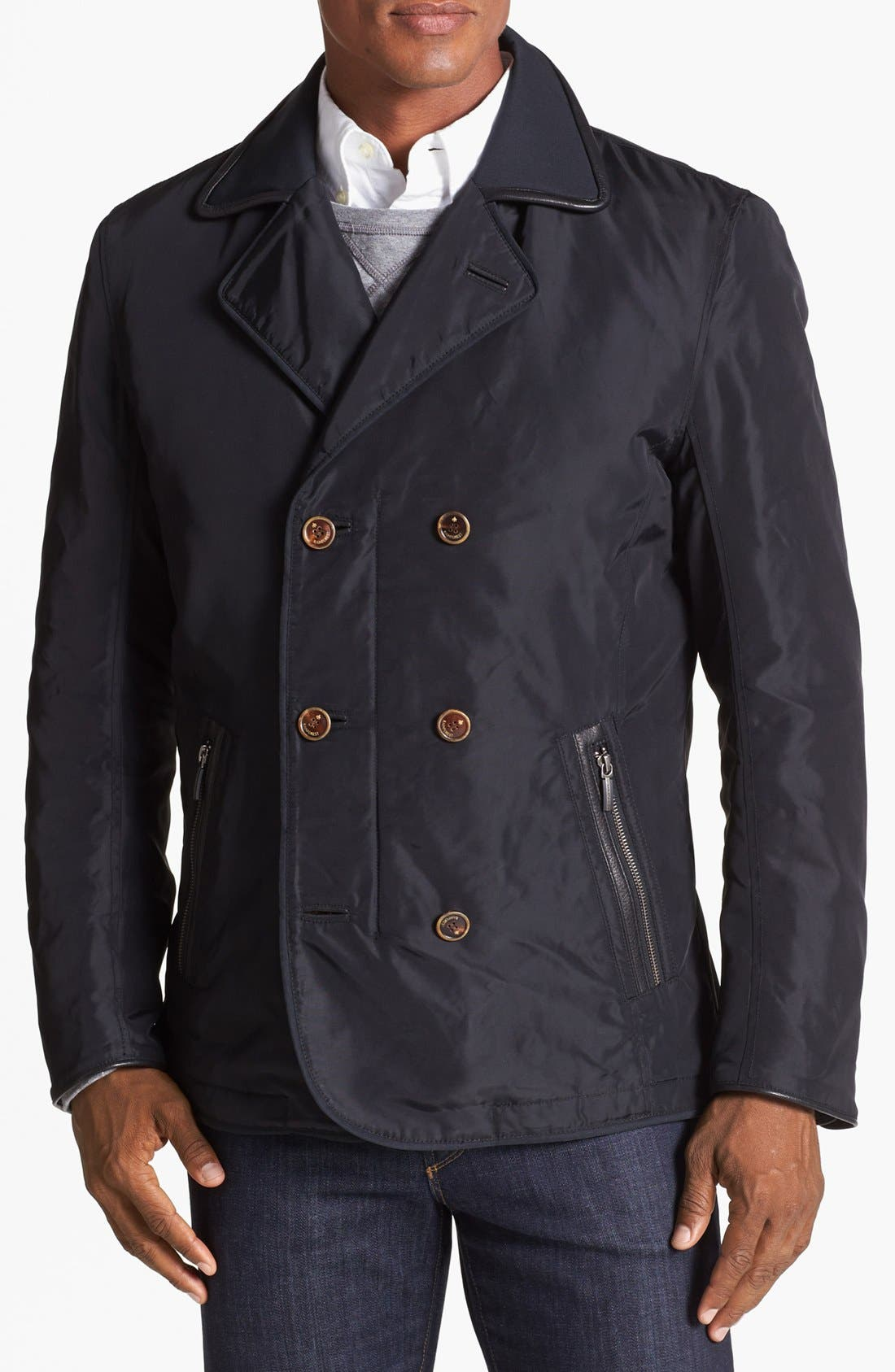 Alternate Image 1 Selected - RAINFOREST Double Breasted Water Repellent Nylon Blazer