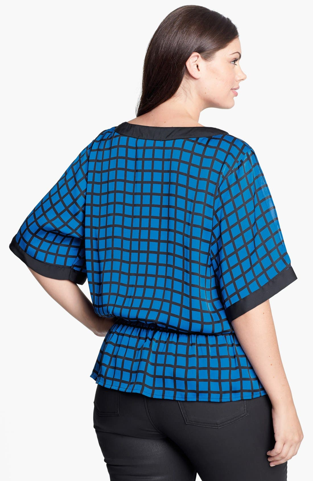 Alternate Image 2  - MICHAEL Michael Kors Smocked Cold Shoulder Blouse (Plus Size)