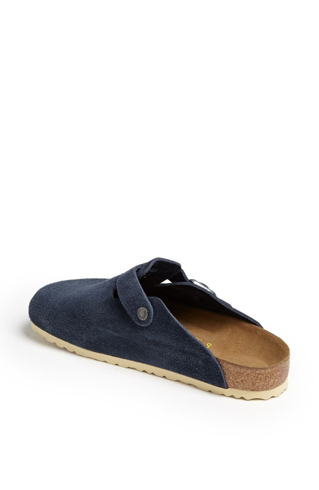 Alternate Image 2  - Birkenstock 'Boston Soft' Suede Clog (Men)
