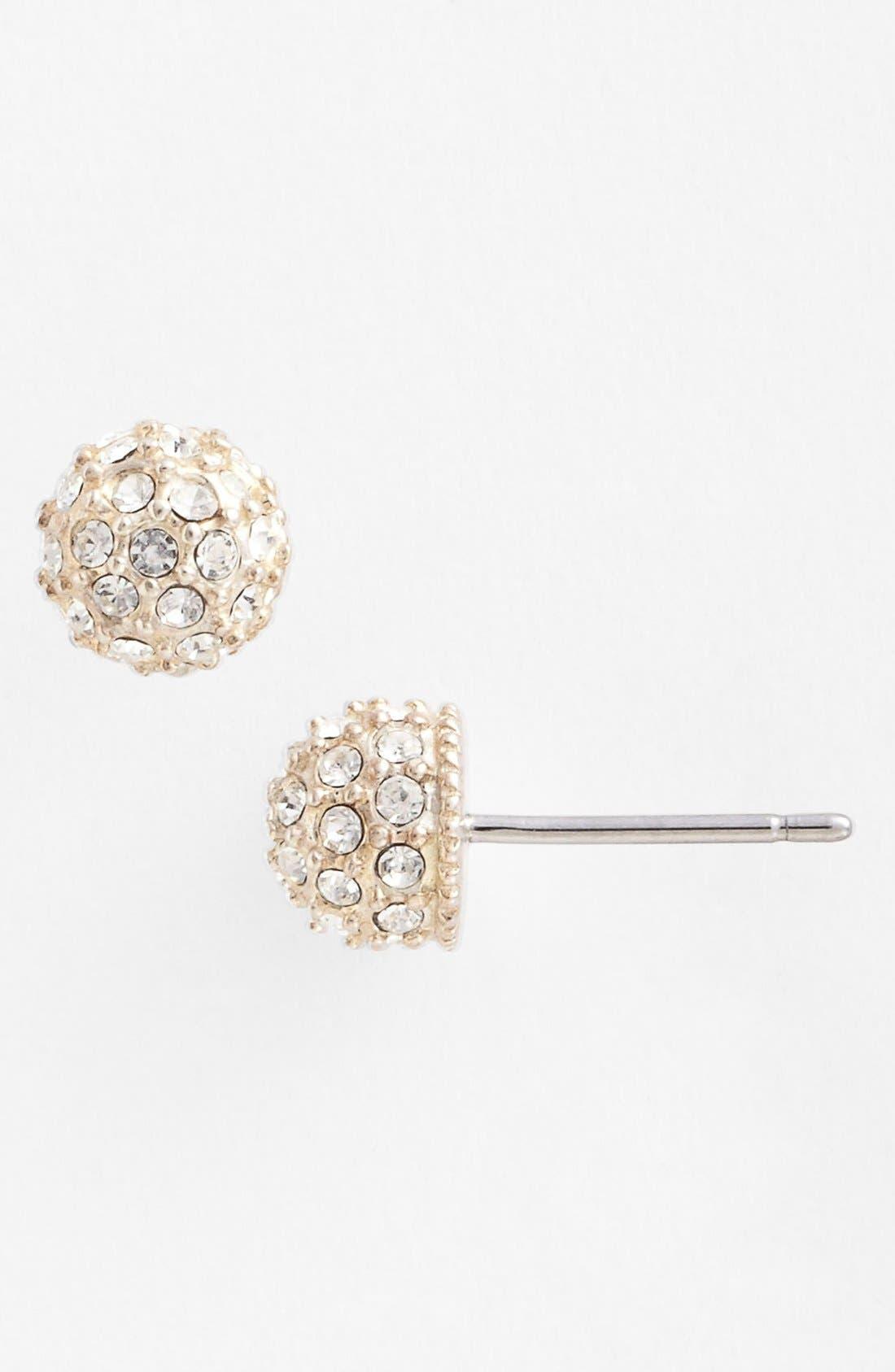 Stud Earrings,                         Main,                         color, Silver/ Fireball