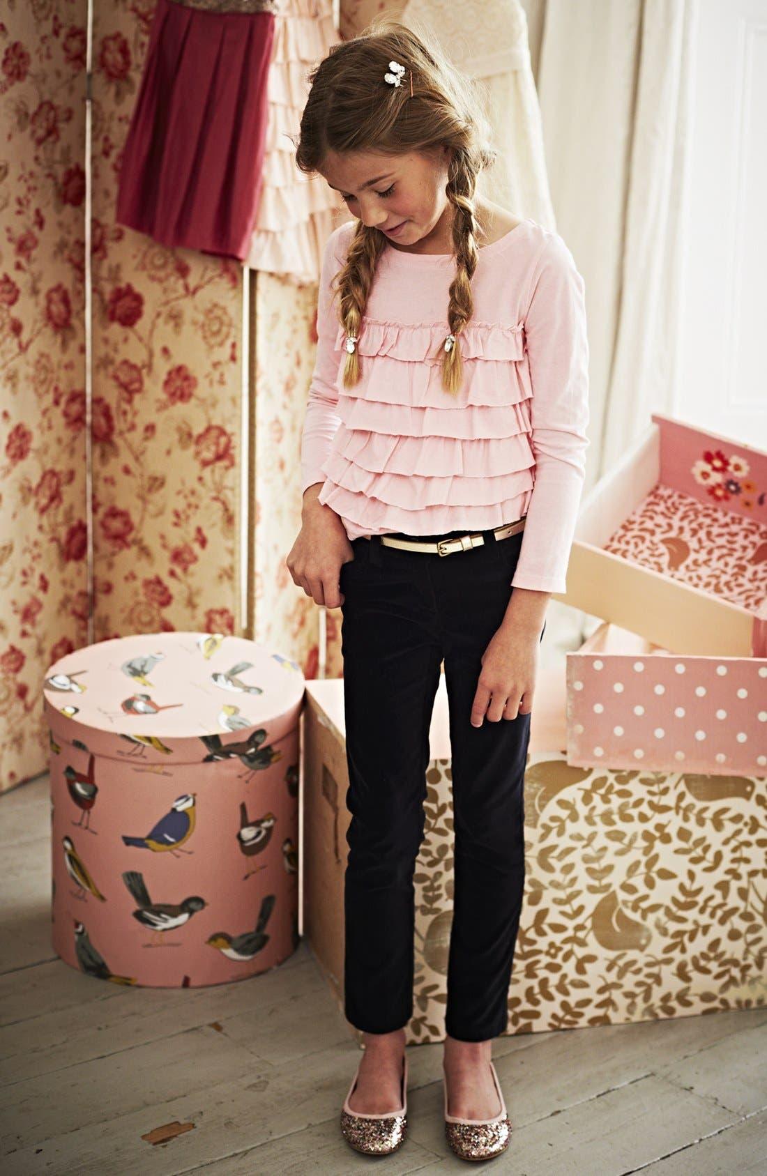 Alternate Image 2  - Mini Boden Ruffled Tee (Little Girls & Big Girls)