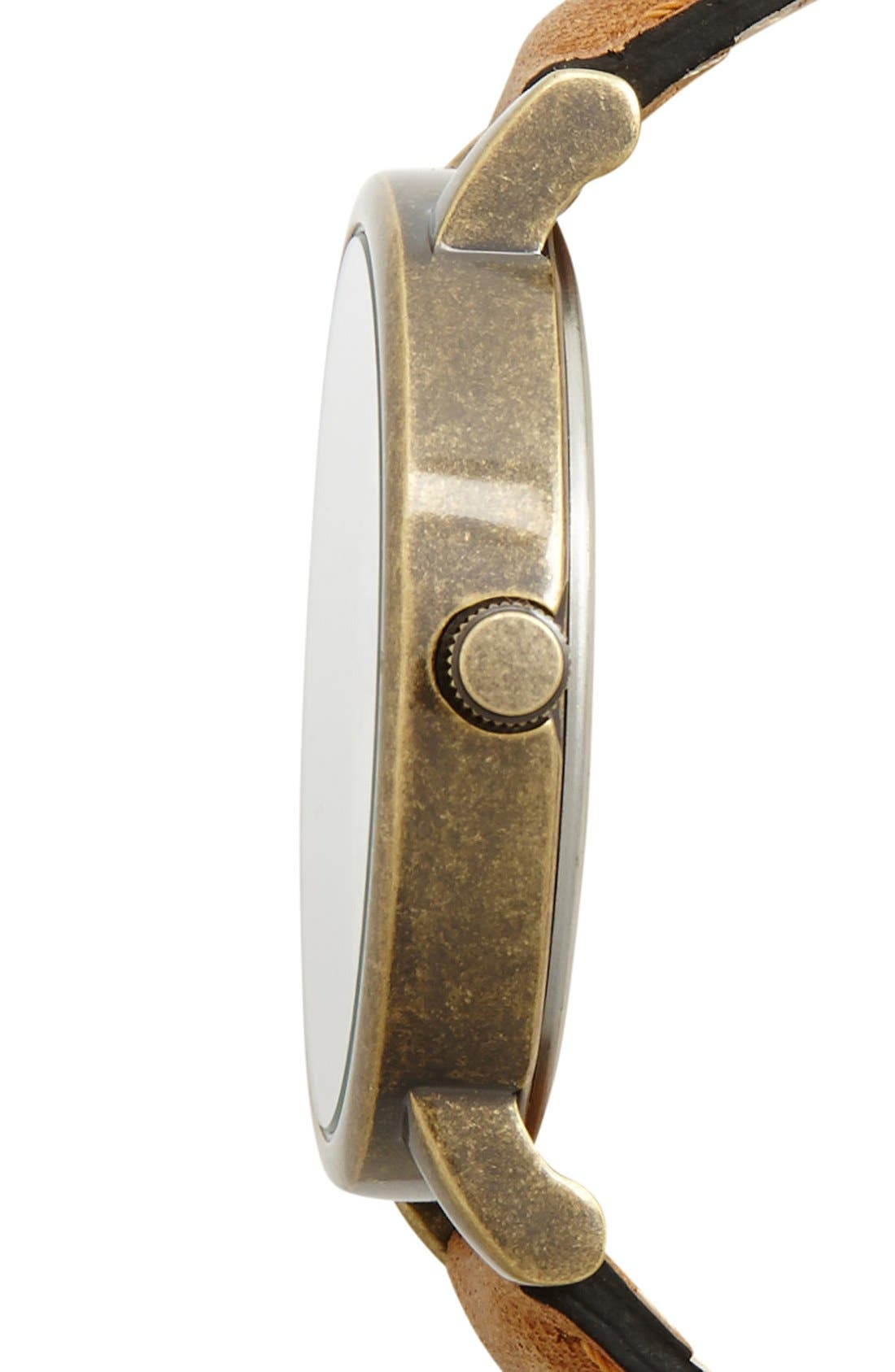 Alternate Image 3  - Timex® Antiqued Case & Leather Strap Watch, 42mm