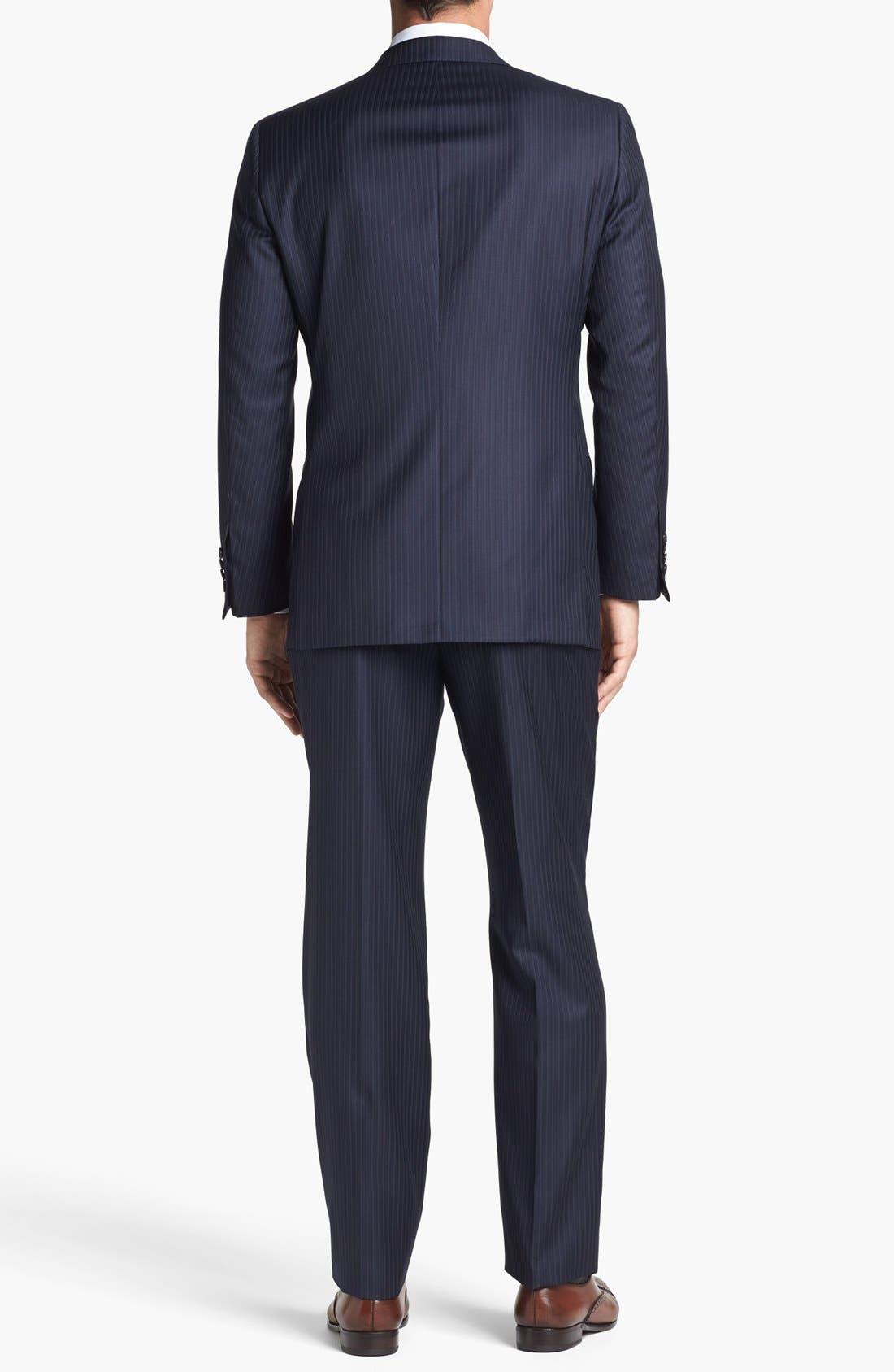 Alternate Image 3  - Hickey Freeman 'B Series' Classic Fit Stripe Suit