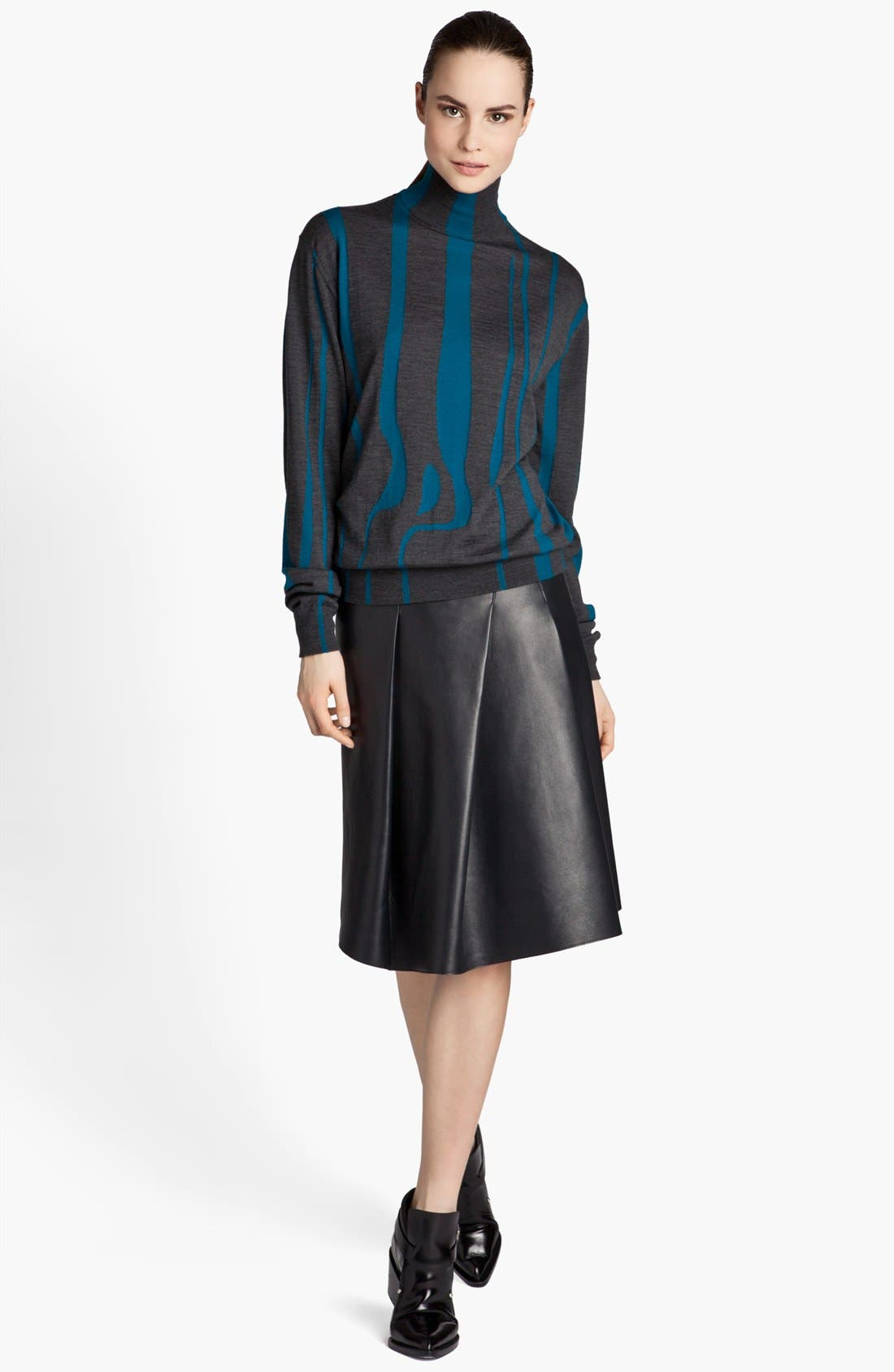 Alternate Image 2  - Jil Sander 'Pom Pom' Pleated Leather Skirt