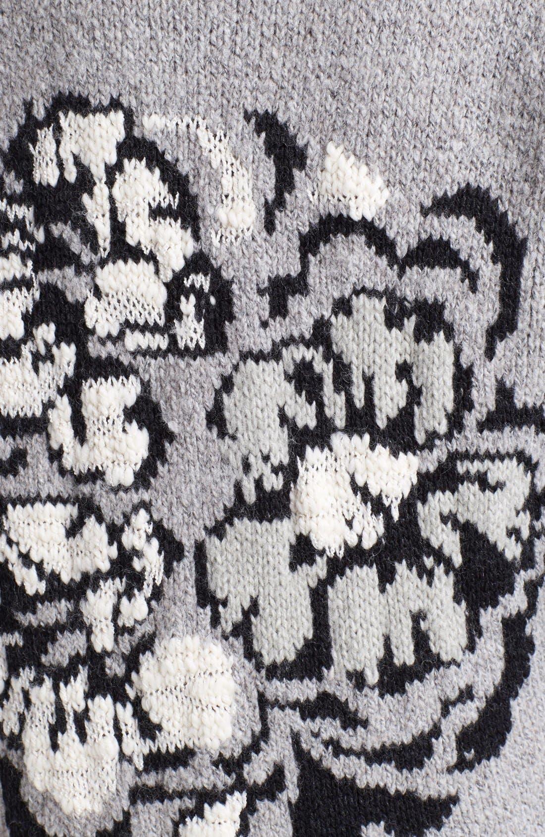 Alternate Image 3  - Free People Floral Pattern Detail Cardigan