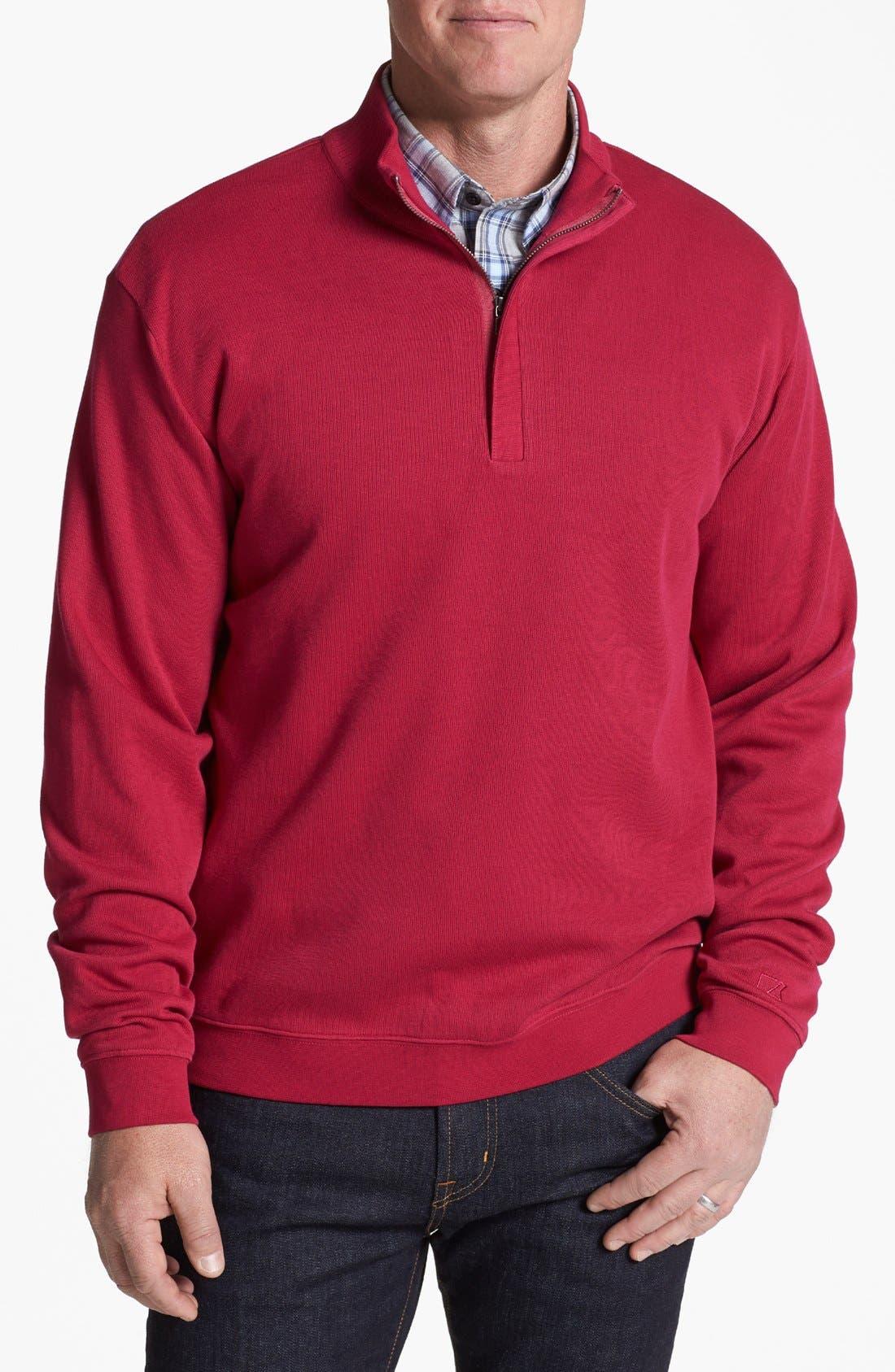 Alternate Image 1 Selected - Cutter & Buck 'Flatback' Pullover Sweatshirt (Big & Tall)