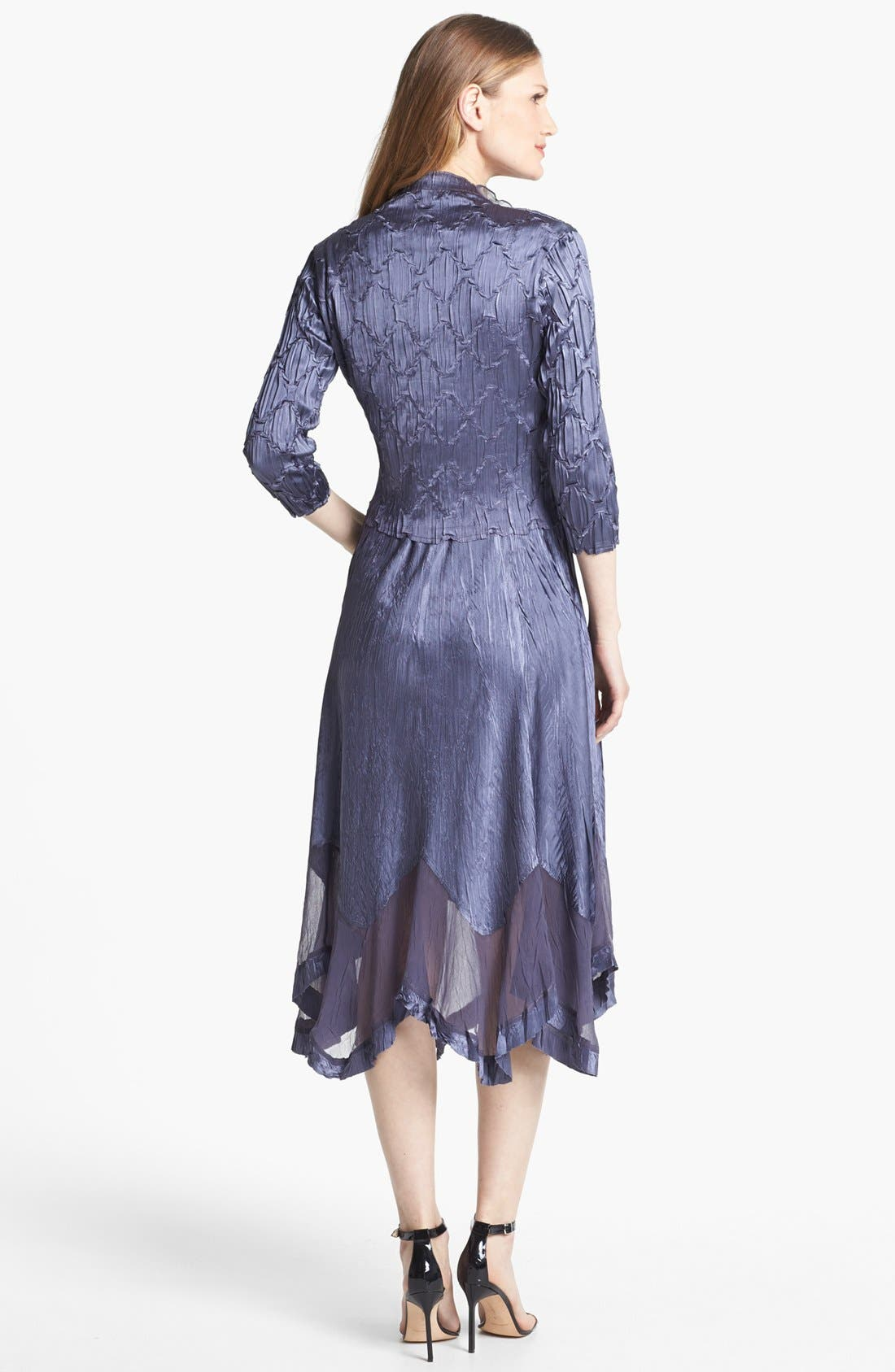 Alternate Image 2  - Komarov Embellished Charmeuse Dress & Jacket (Regular & Petite)