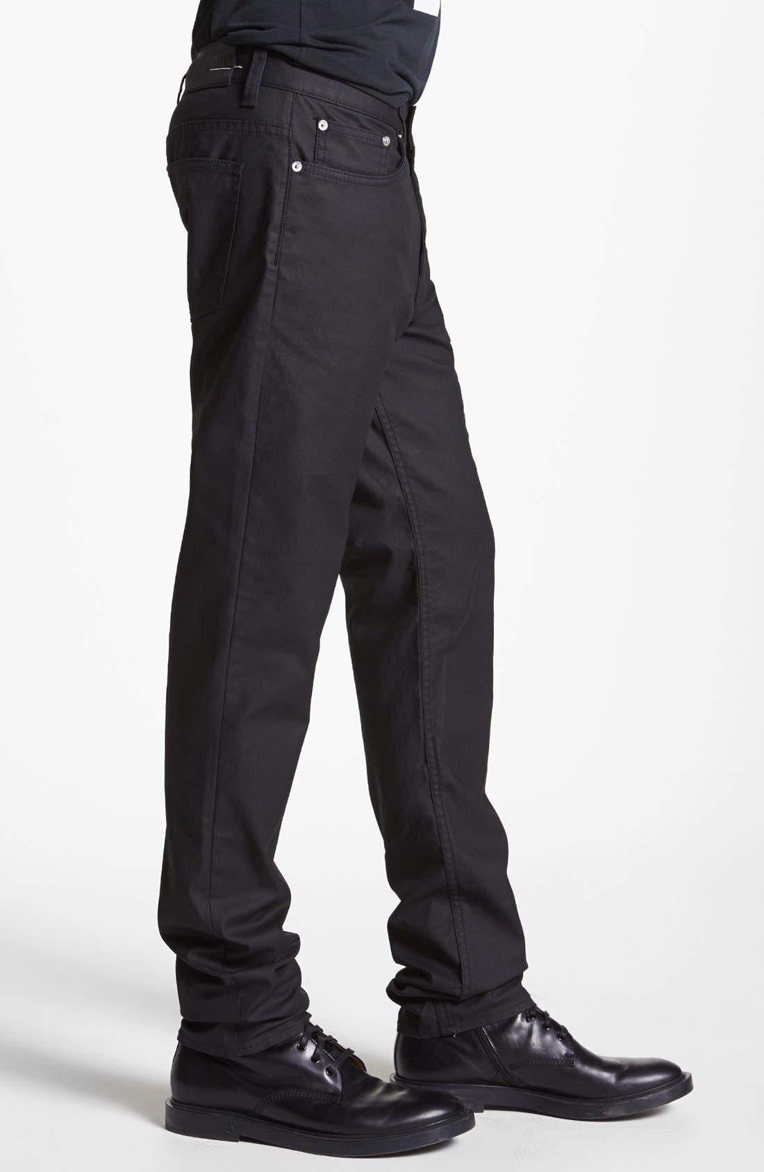 Alternate Image 3  - BLK DNM 'Jeans 5' Slim Straight Leg Jeans (Orchard Black)