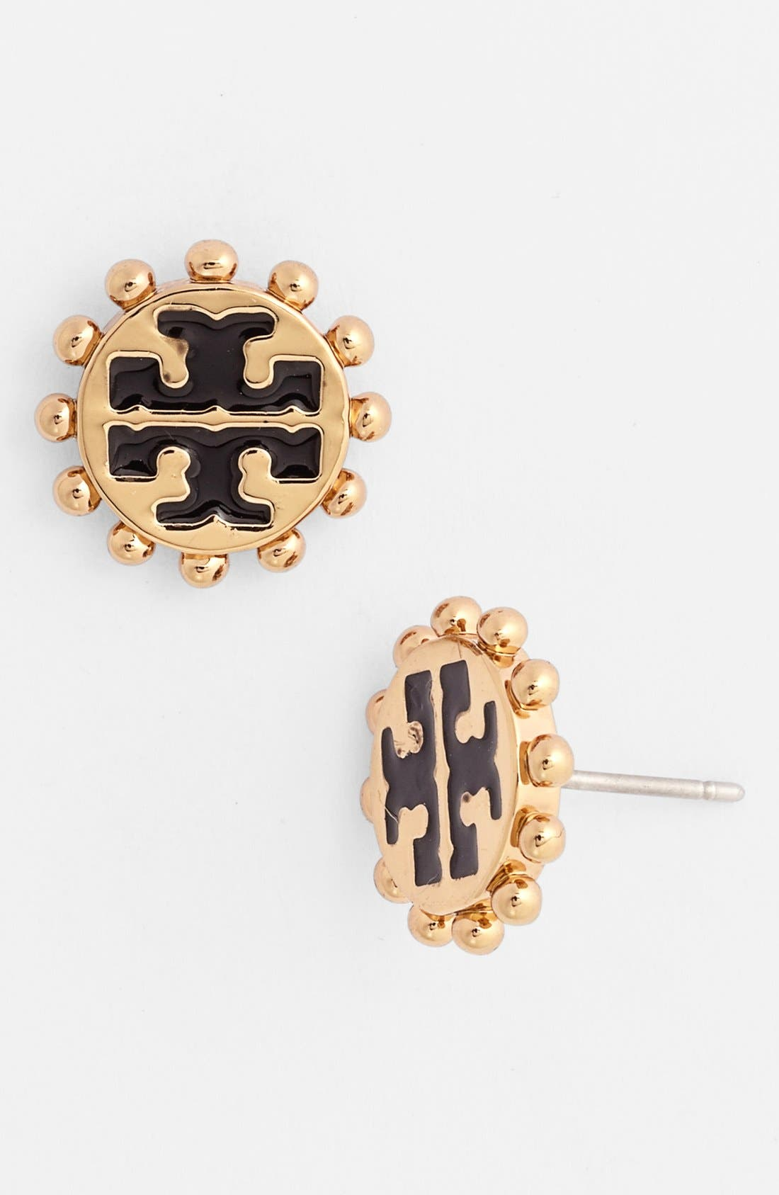 Main Image - Tory Burch 'Winslow' Logo Stud Earrings