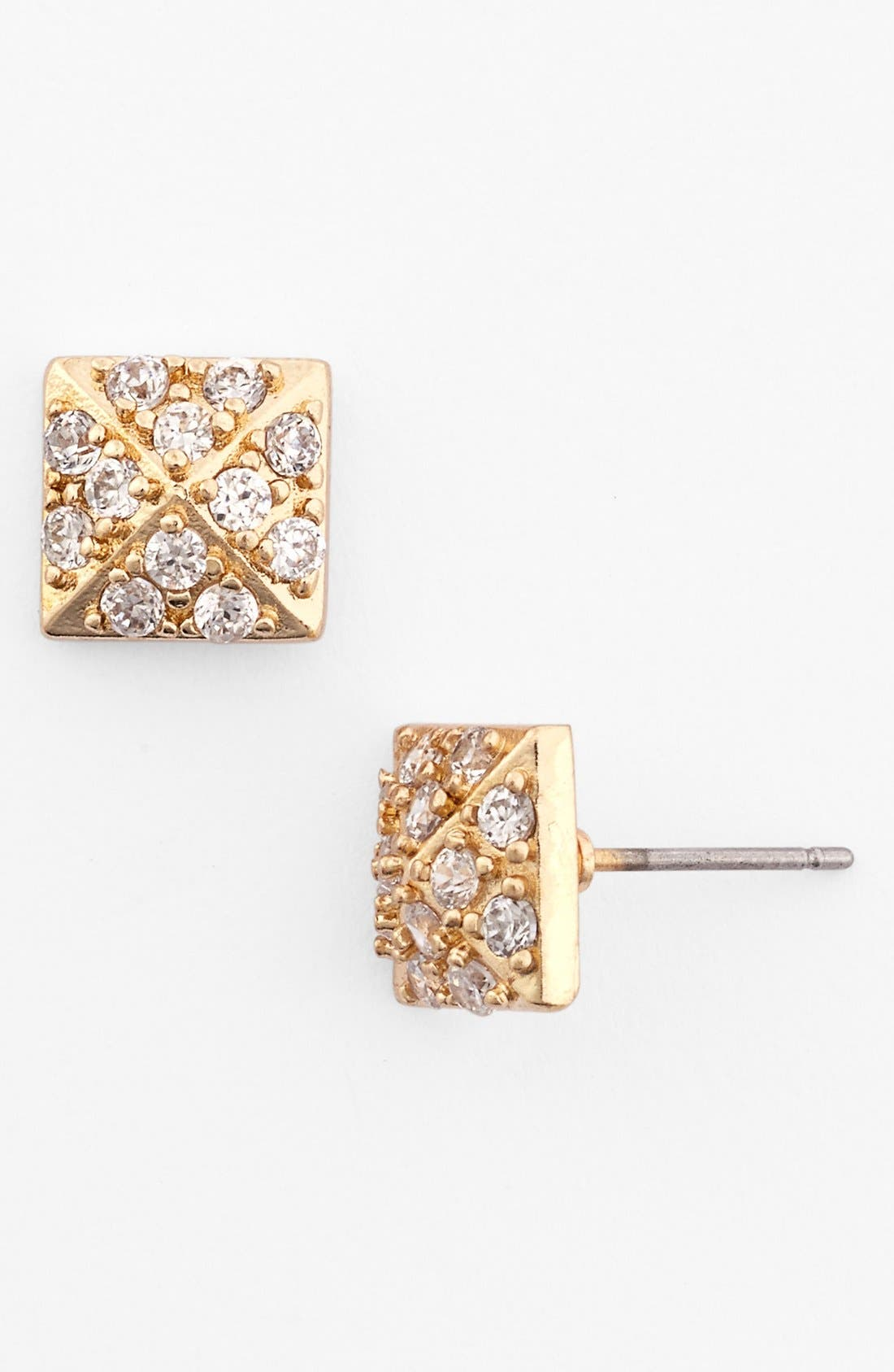 Main Image - Nordstrom Pavé Pyramid Stud Earrings