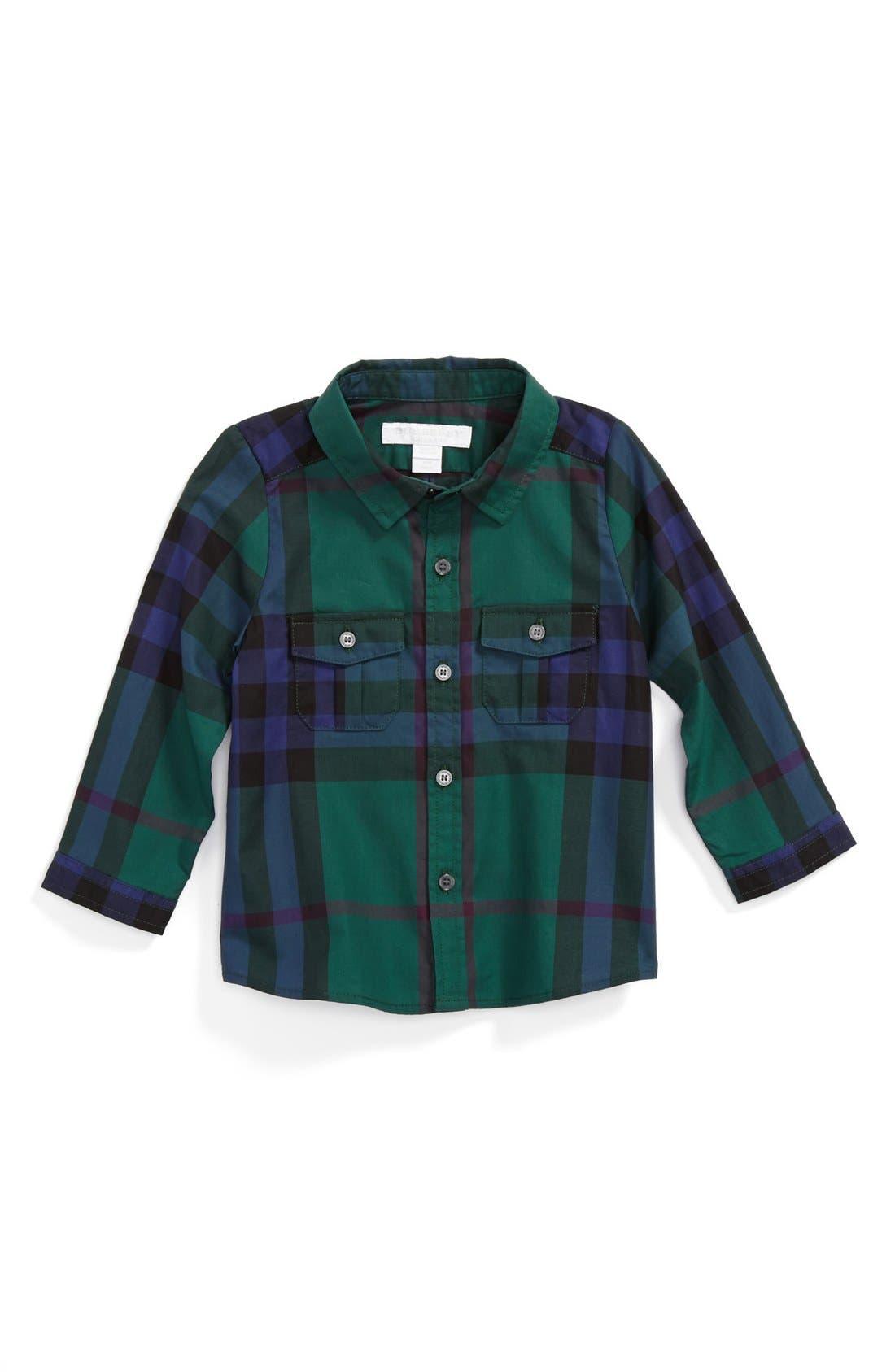 Main Image - Burberry Check Print Shirt (Baby Boys)