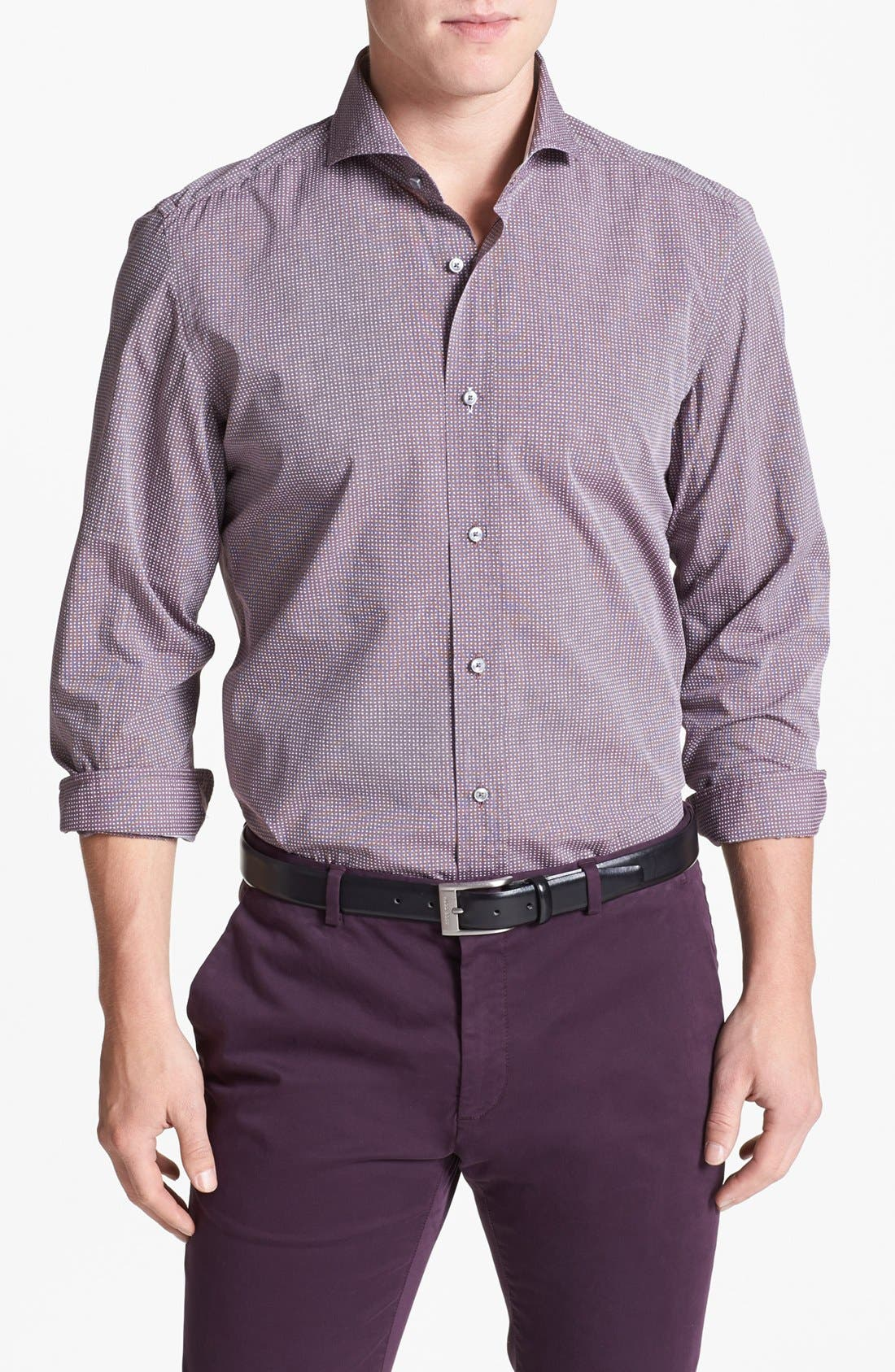 Alternate Image 1 Selected - BOSS HUGO BOSS 'Sean' Slim Fit Sport Shirt