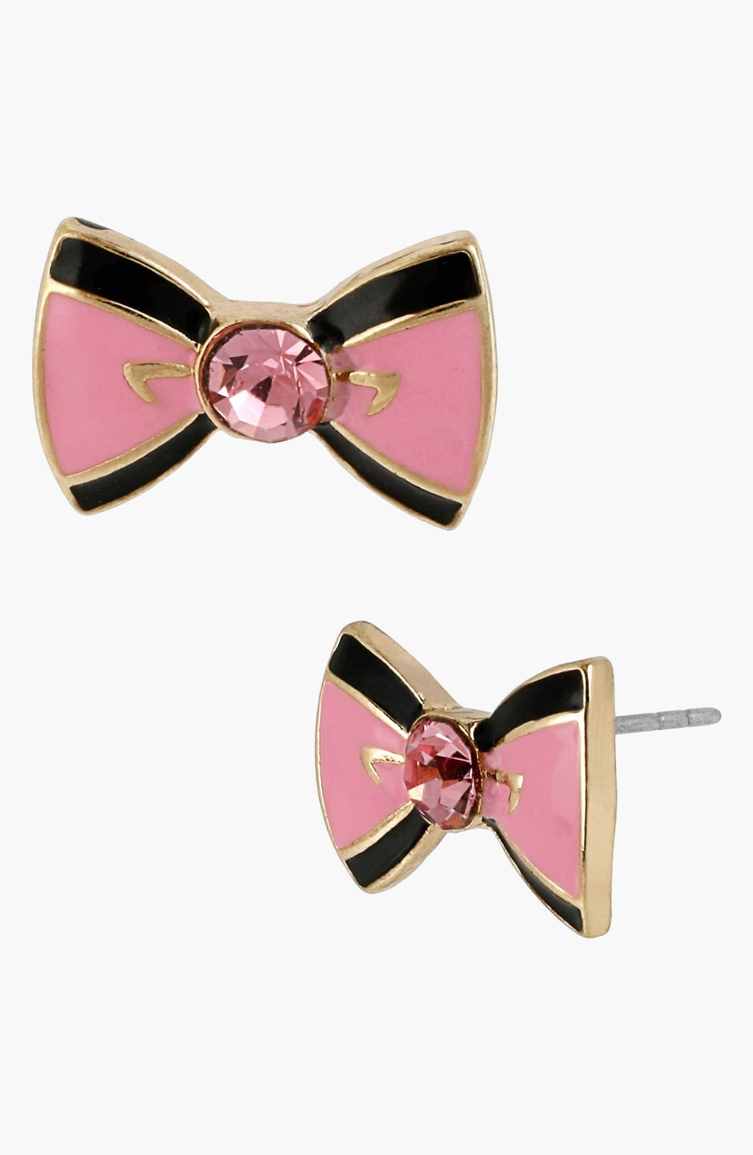 Alternate Image 1 Selected - Betsey Johnson 'Paris' Bow Stud Earrings