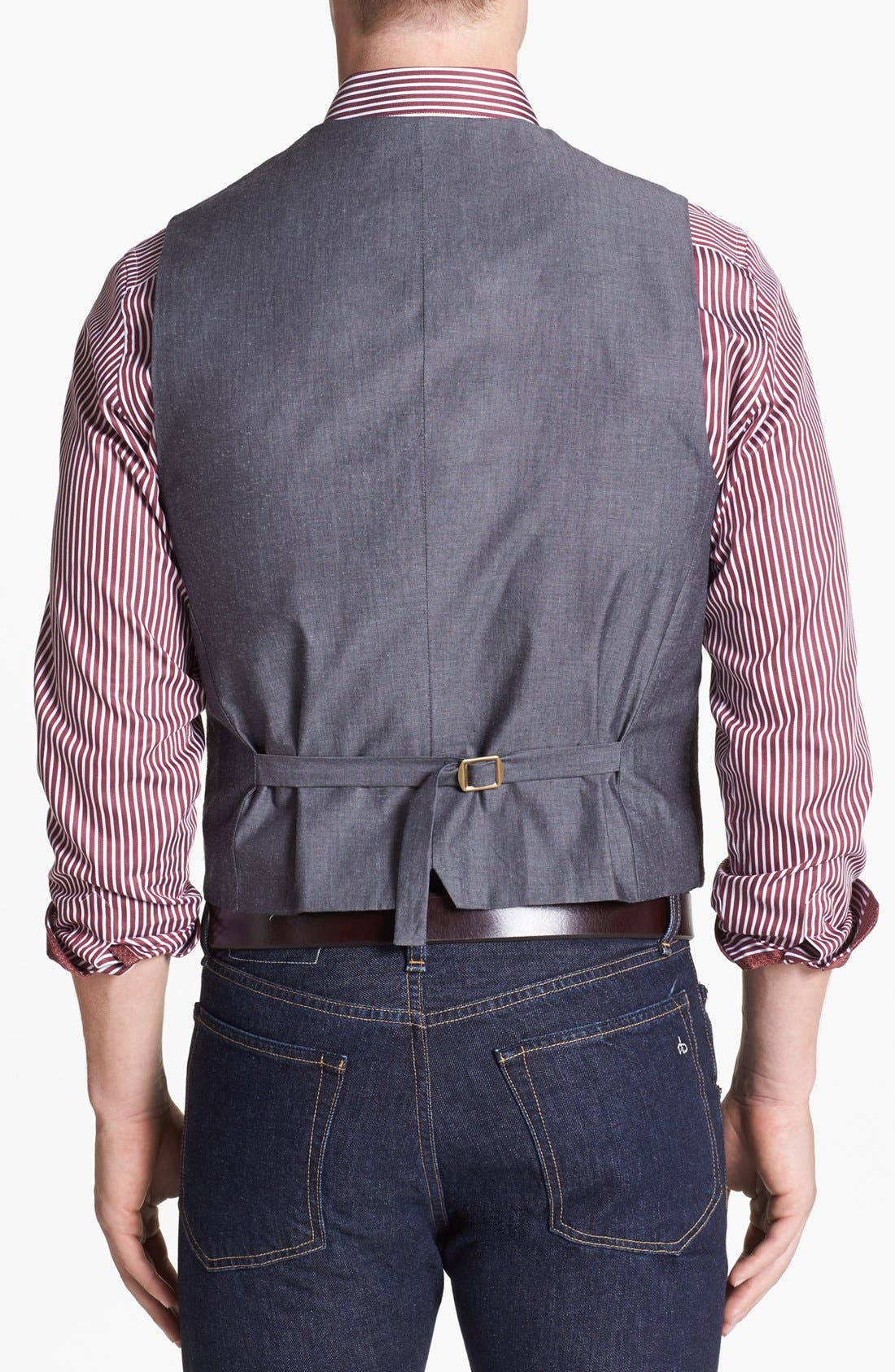 Alternate Image 2  - Wallin & Bros. Trim Fit Donegal Vest