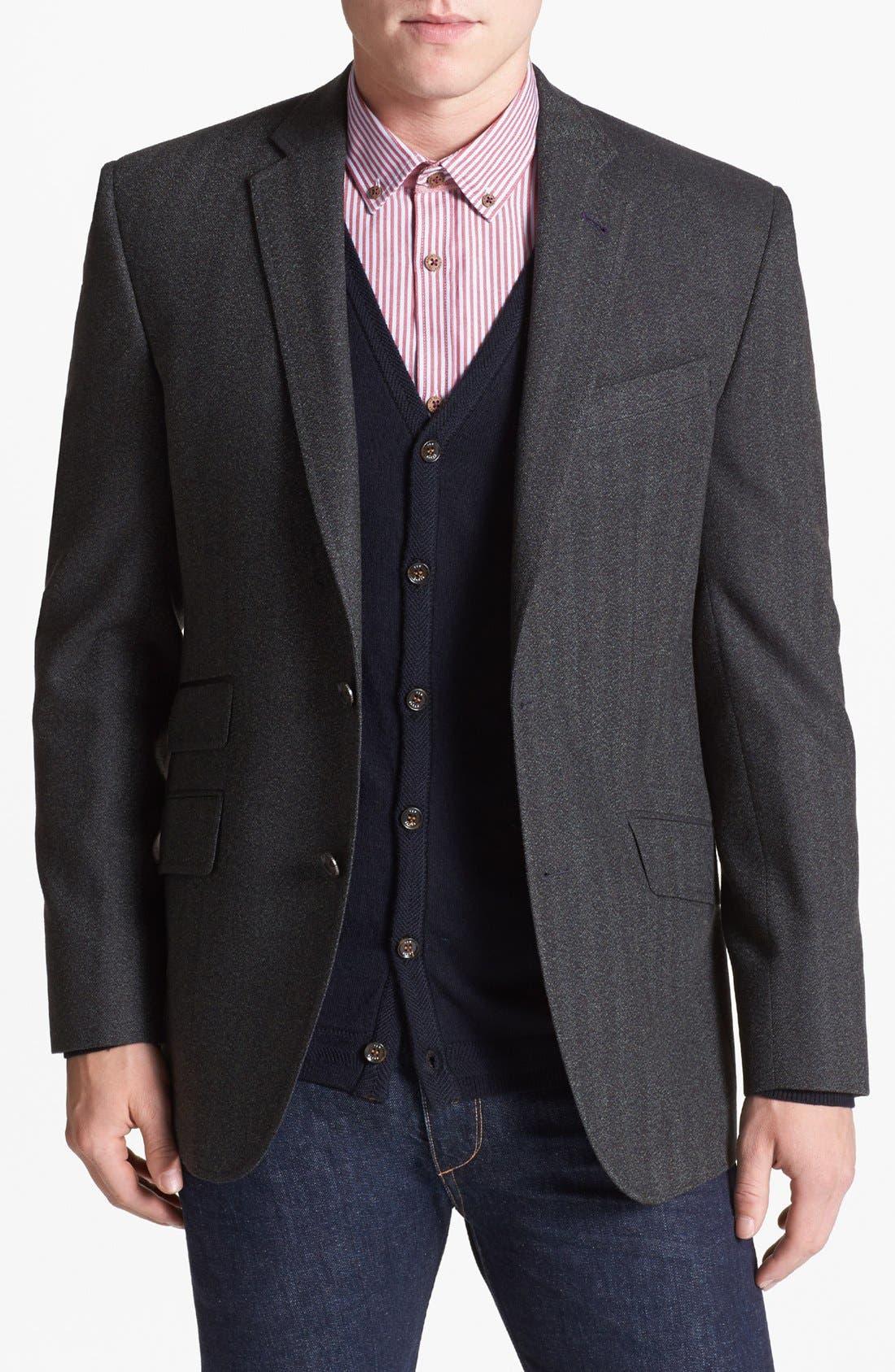 Main Image - Ted Baker London 'Jim' Trim Fit Herringbone Sportcoat