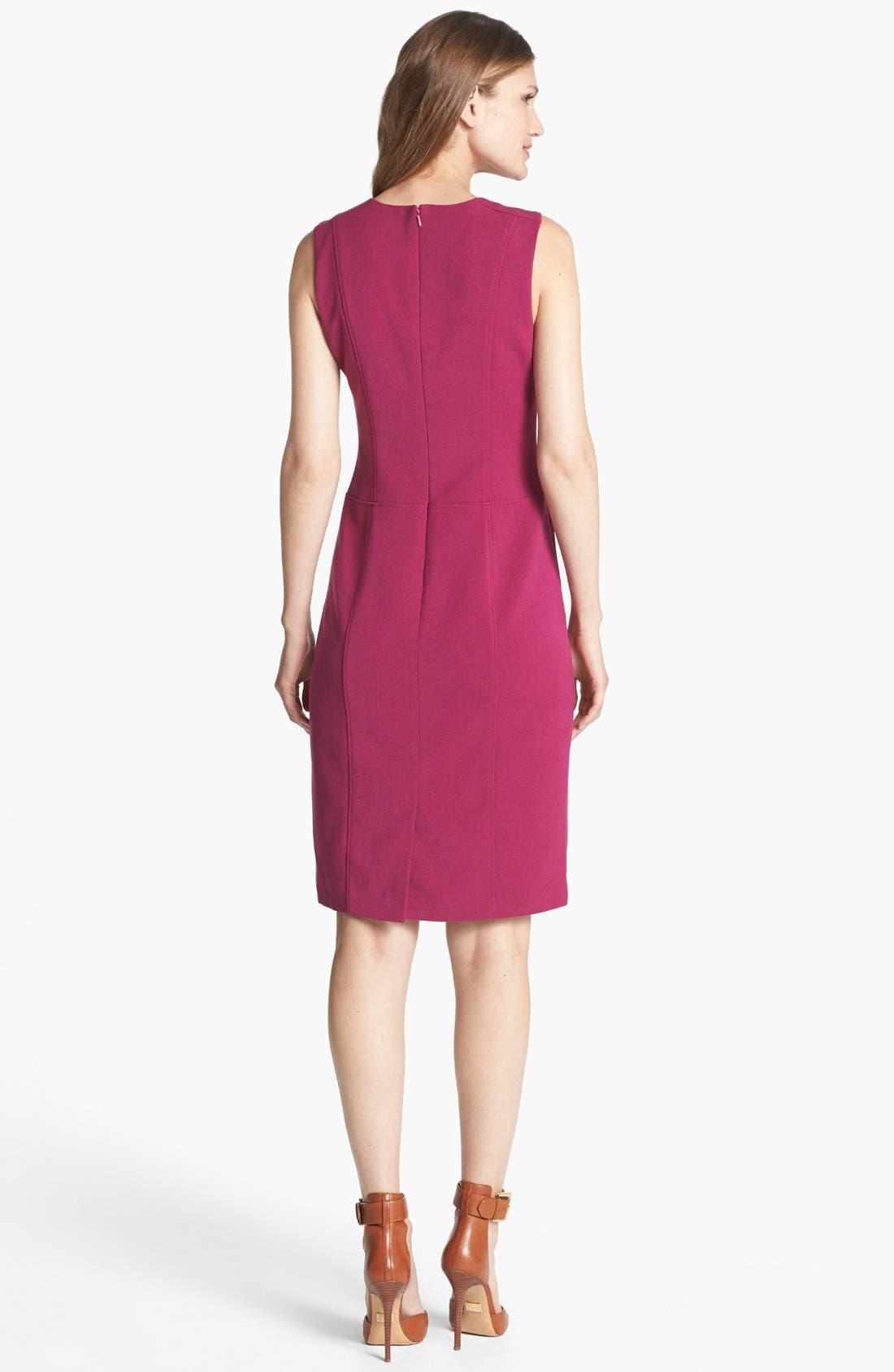 Alternate Image 2  - Anne Klein Crewneck Sheath Dress