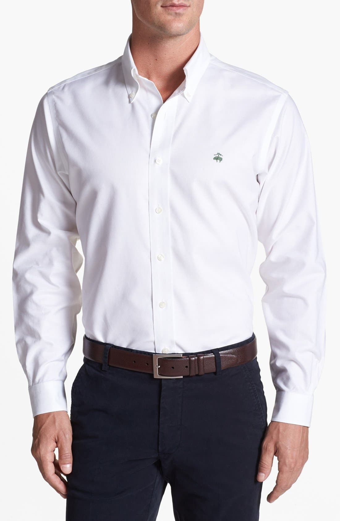 Alternate Image 1 Selected - Brooks Brothers 'Niox' Regular Fit Sport Shirt