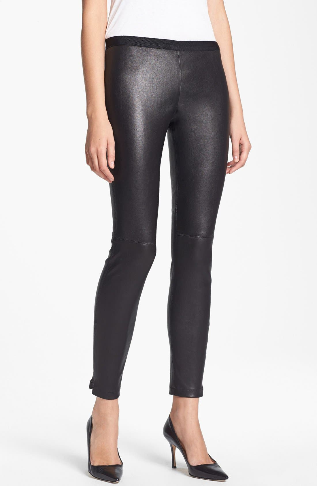 Main Image - Miss Wu Leather Leggings (Nordstrom Exclusive)