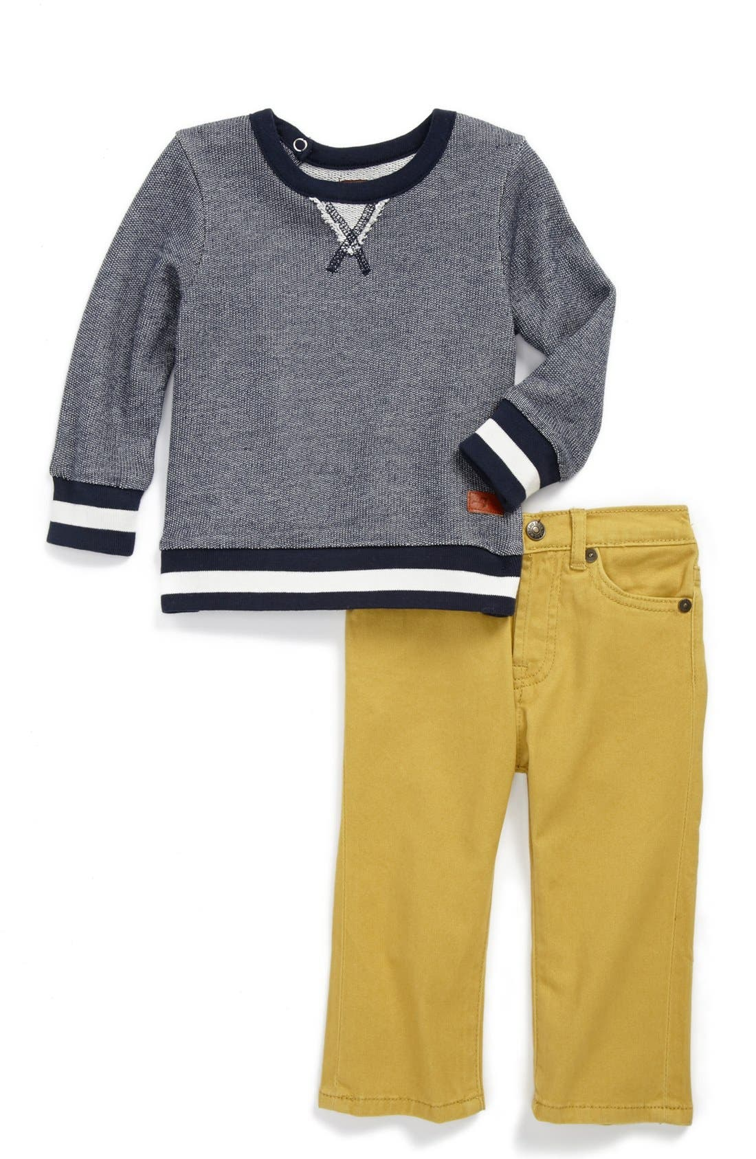 Alternate Image 1 Selected - 7 For All Mankind® T-Shirt & Pants (Baby Boys)