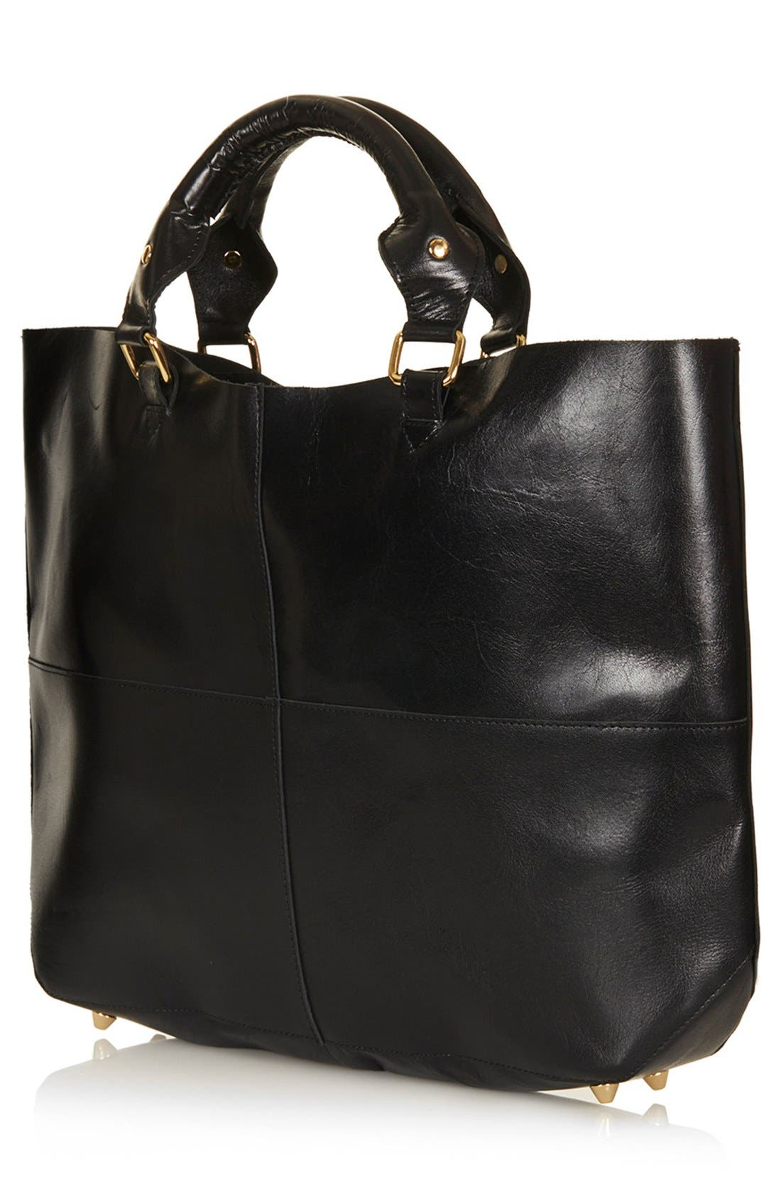 Alternate Image 3  - Topshop Leather Tote, Extra Large