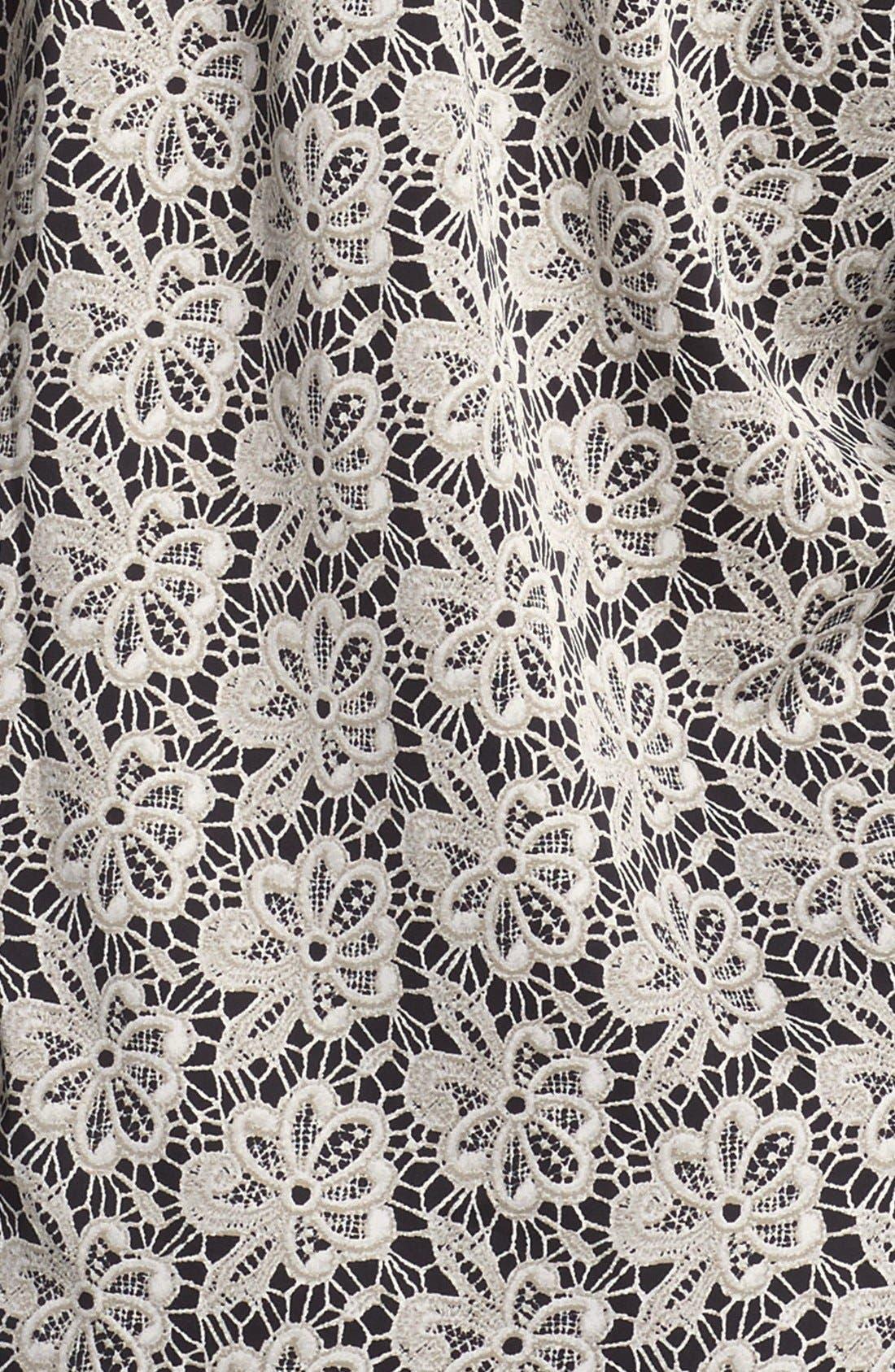 Alternate Image 3  - Vince Camuto Split Neck Lace Print Blouse