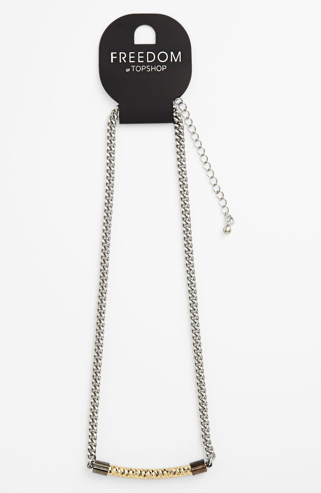 Alternate Image 1 Selected - Topshop Curved Pendant Necklace