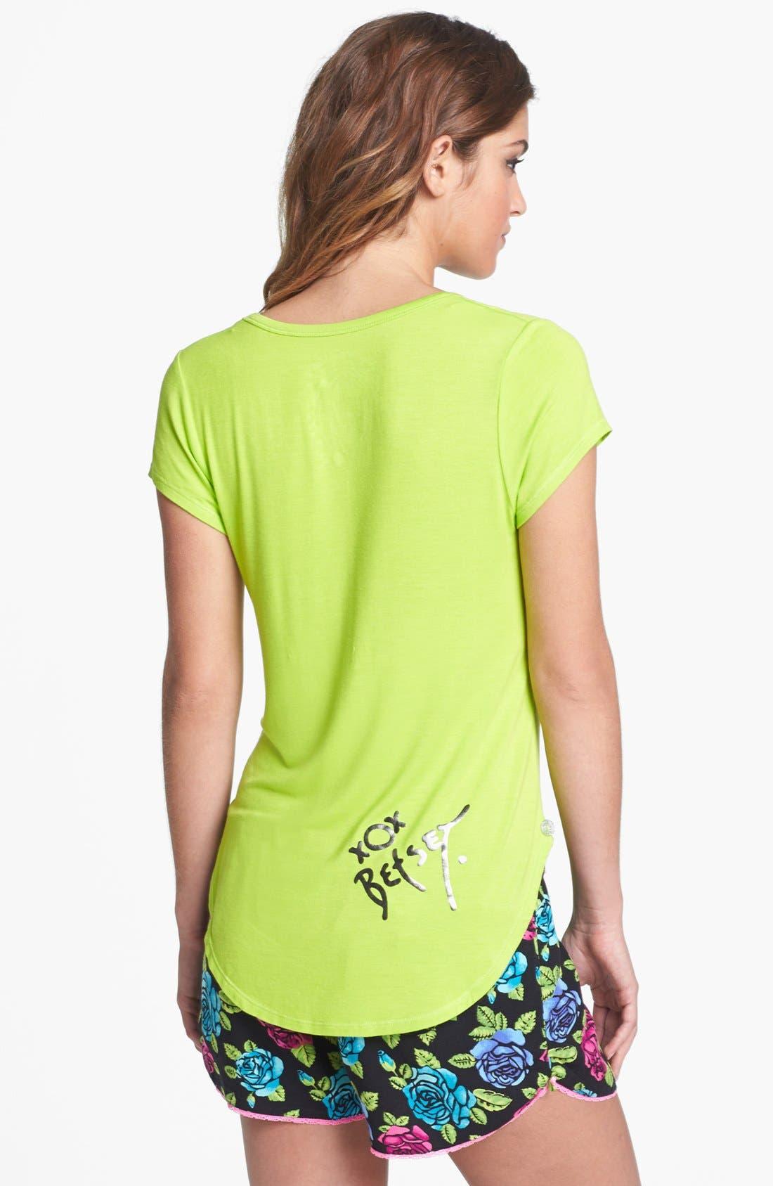Alternate Image 2  - Betsey Johnson Tee & Shorts